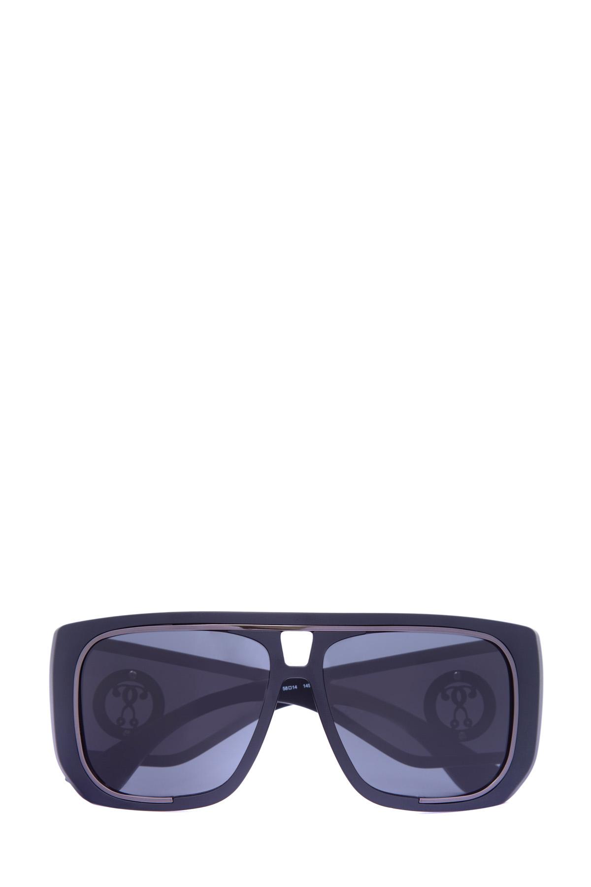 Очки с пластиковой оправой-маской и солнцезащитными шторками по бокам фото