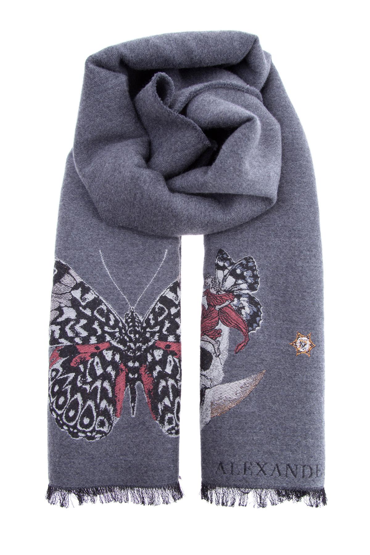 женский шарф alexander mcqueen