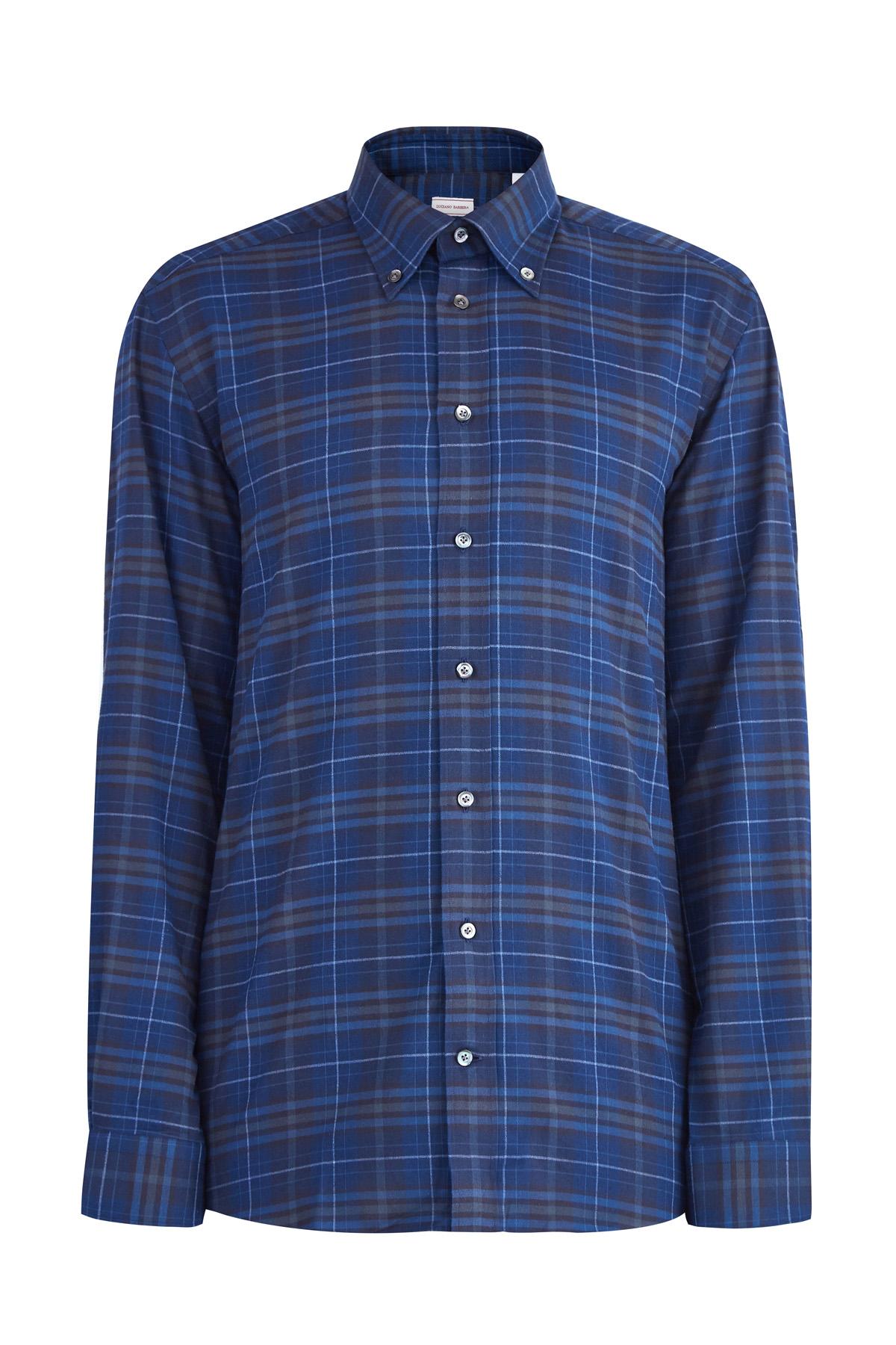 Рубашка из плотного хлопка с воротом button-down фото