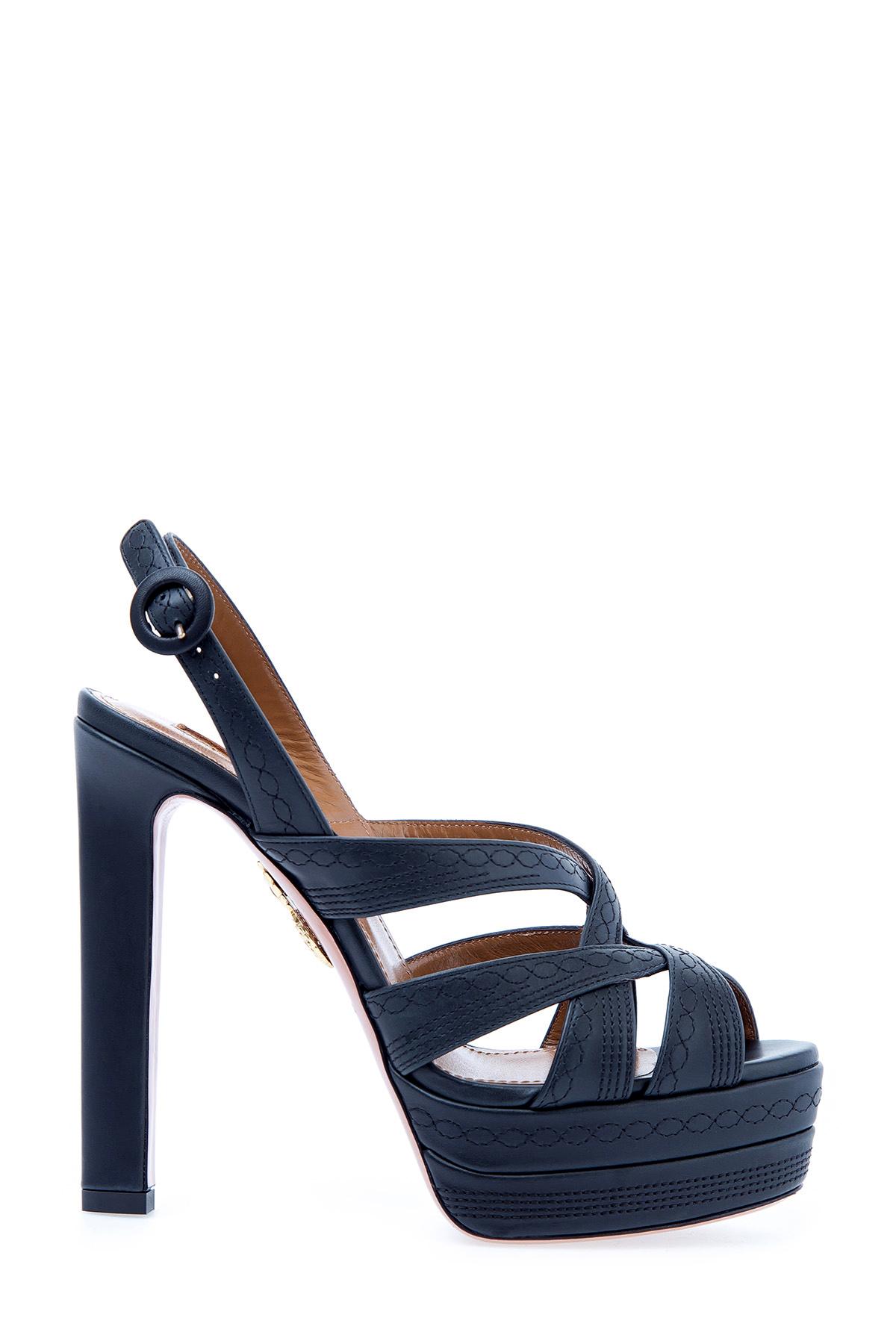 женские босоножки на каблуке aquazzura