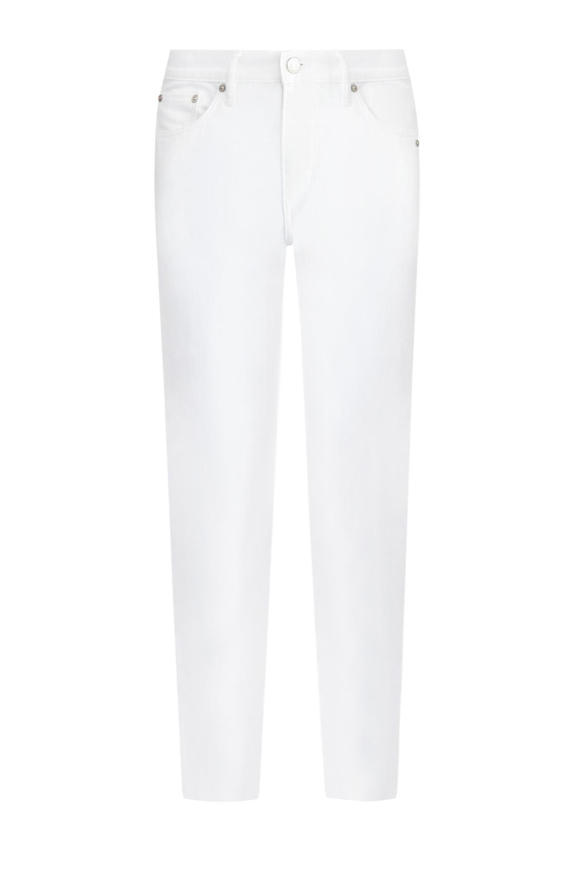 Минималистичные джинсы из однотонного плотного денима