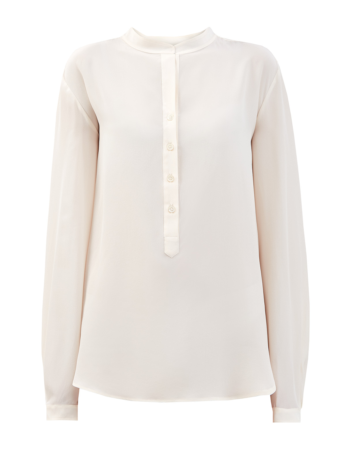 Шелковая блуза Eva с застежкой на пуговицы