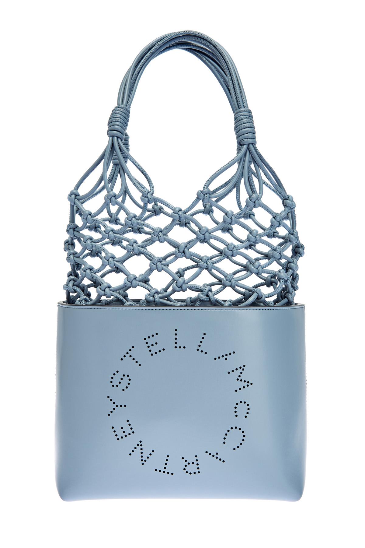Сумка-тоут из экологичной кожи Stella Logo с декоративным плетением фото