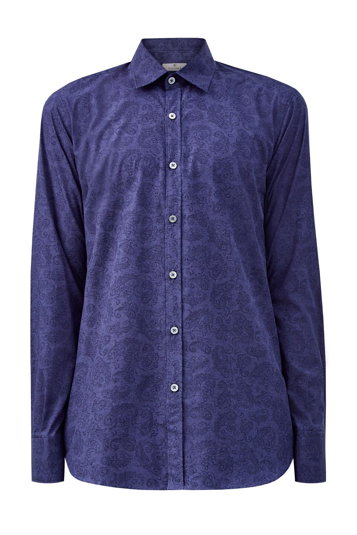 Рубашка из хлопка с принтом пейсли