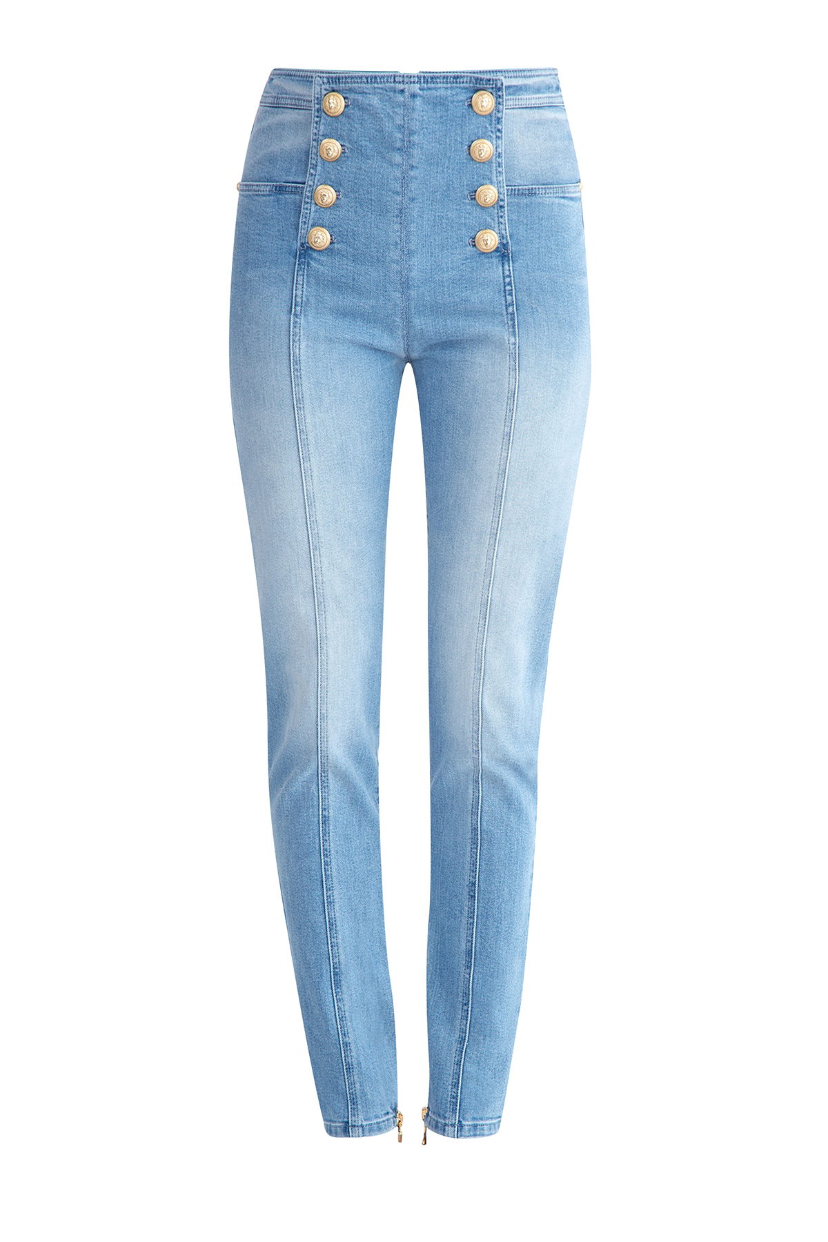 женские джинсы с высокой посадкой balmain
