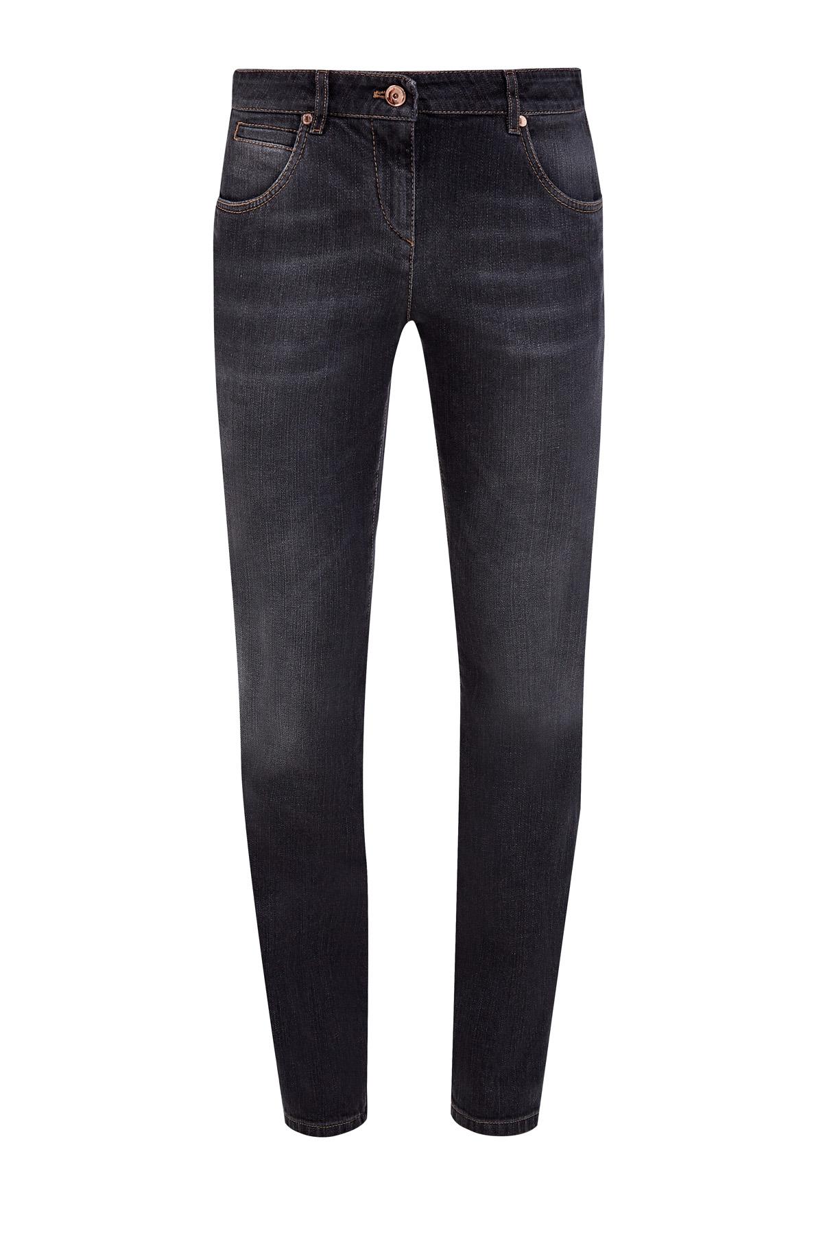 Облегающие джинсы из денима stretch в стиле ретро
