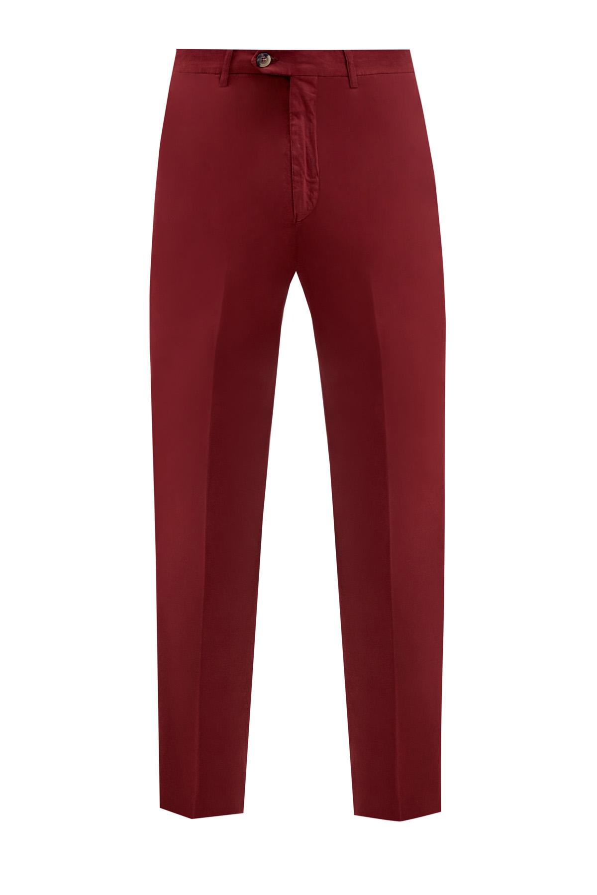 Хлопковые брюки-чинос с волокнами шелка