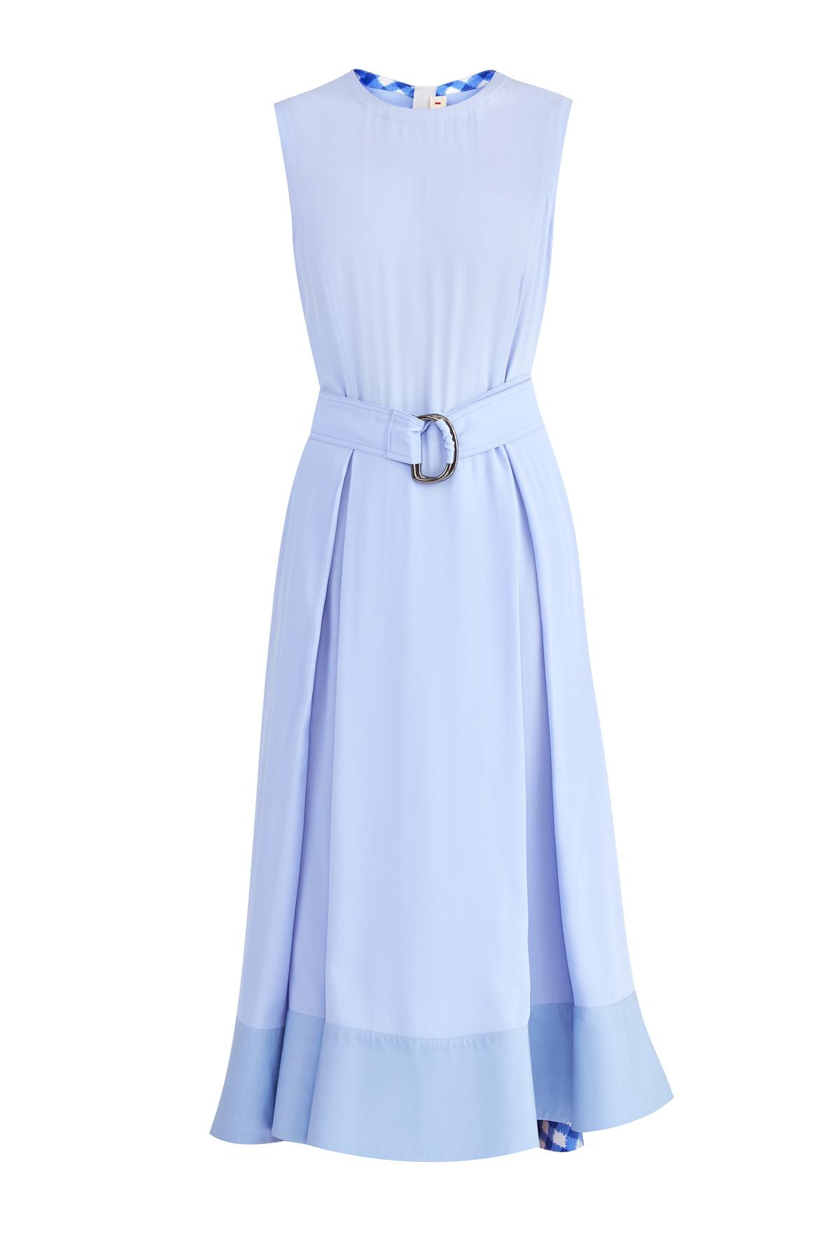 женское платье с круглым вырезом marni