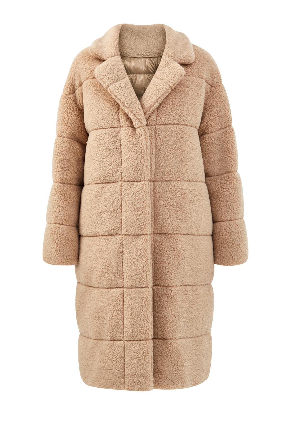 Двустороннее пальто-oversize с утеплителем из пуха фото