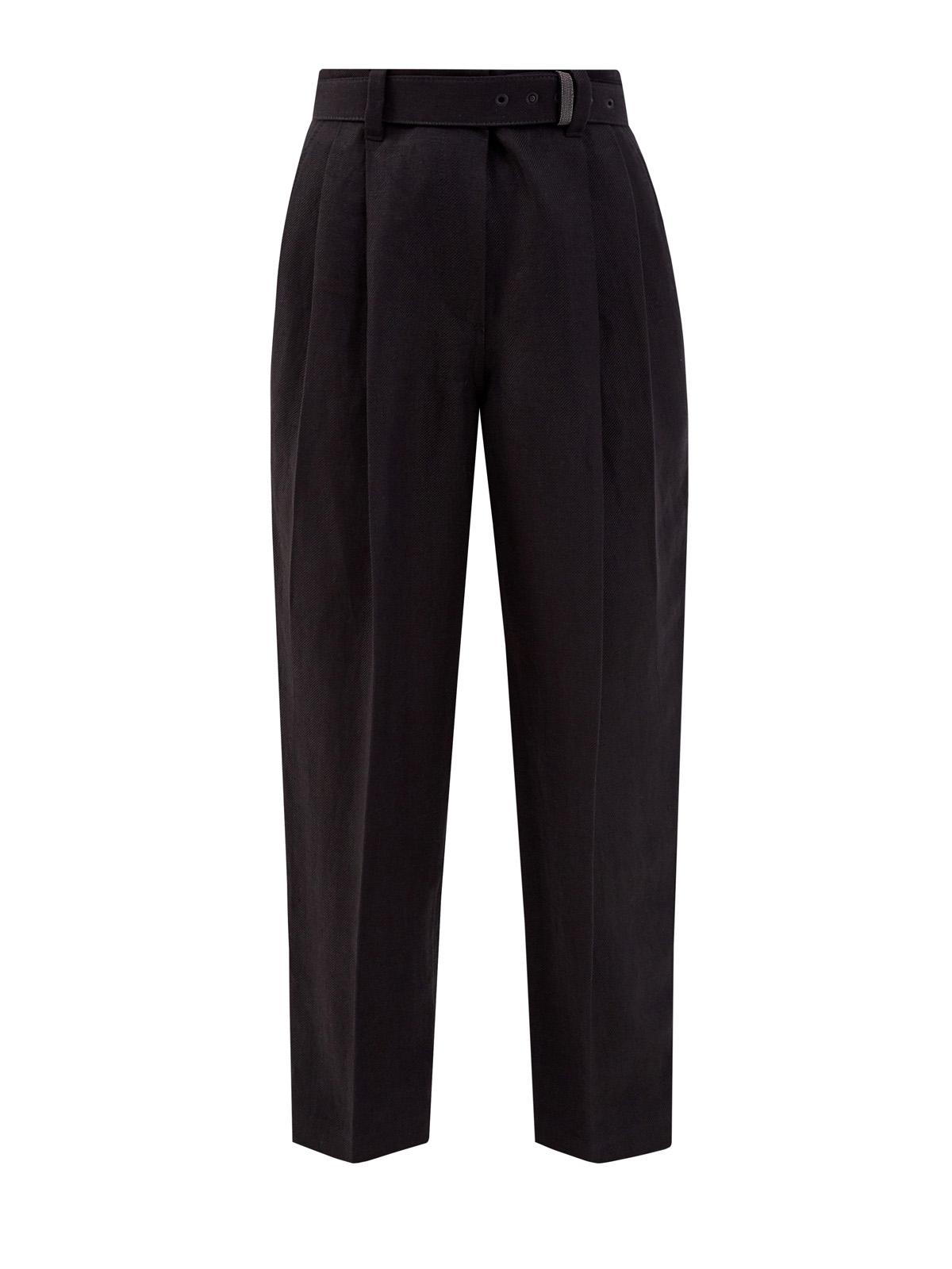 женские укороченные брюки brunello cucinelli