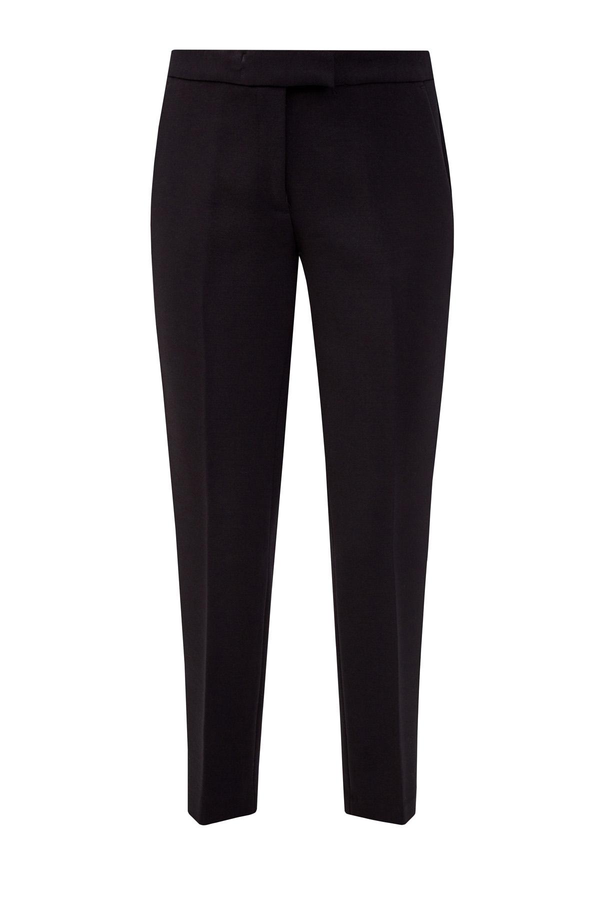 Укороченные брюки из саржи в классическом стиле фото