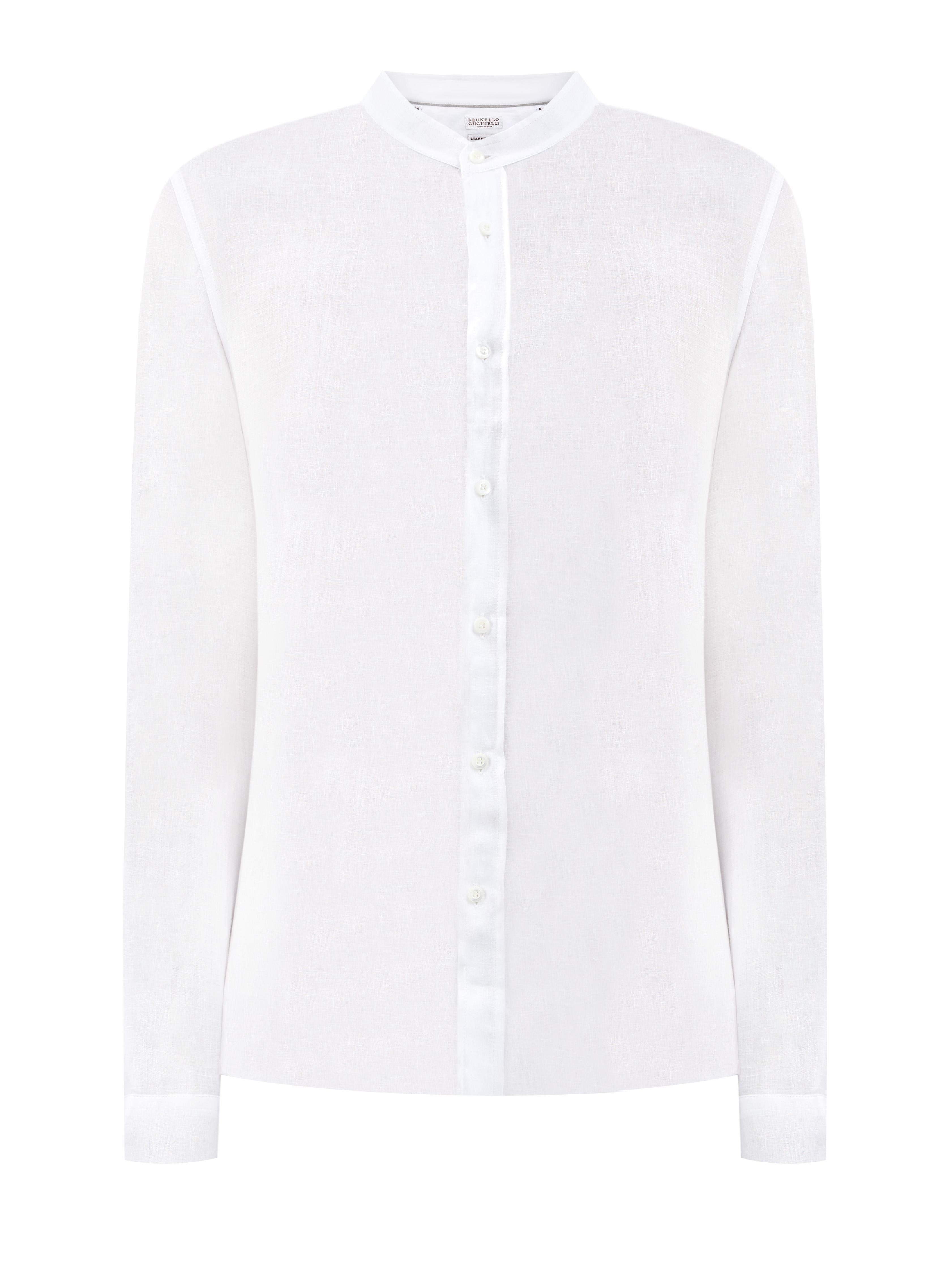 Белая рубашка из дышащей льняной ткани