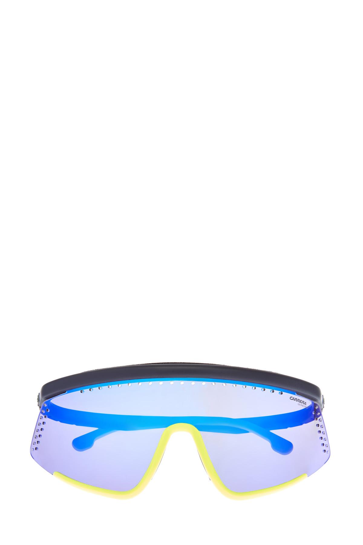 Спортивные очки-маска Hyper Fit в стиле colorblock с зеркальными линзами фото