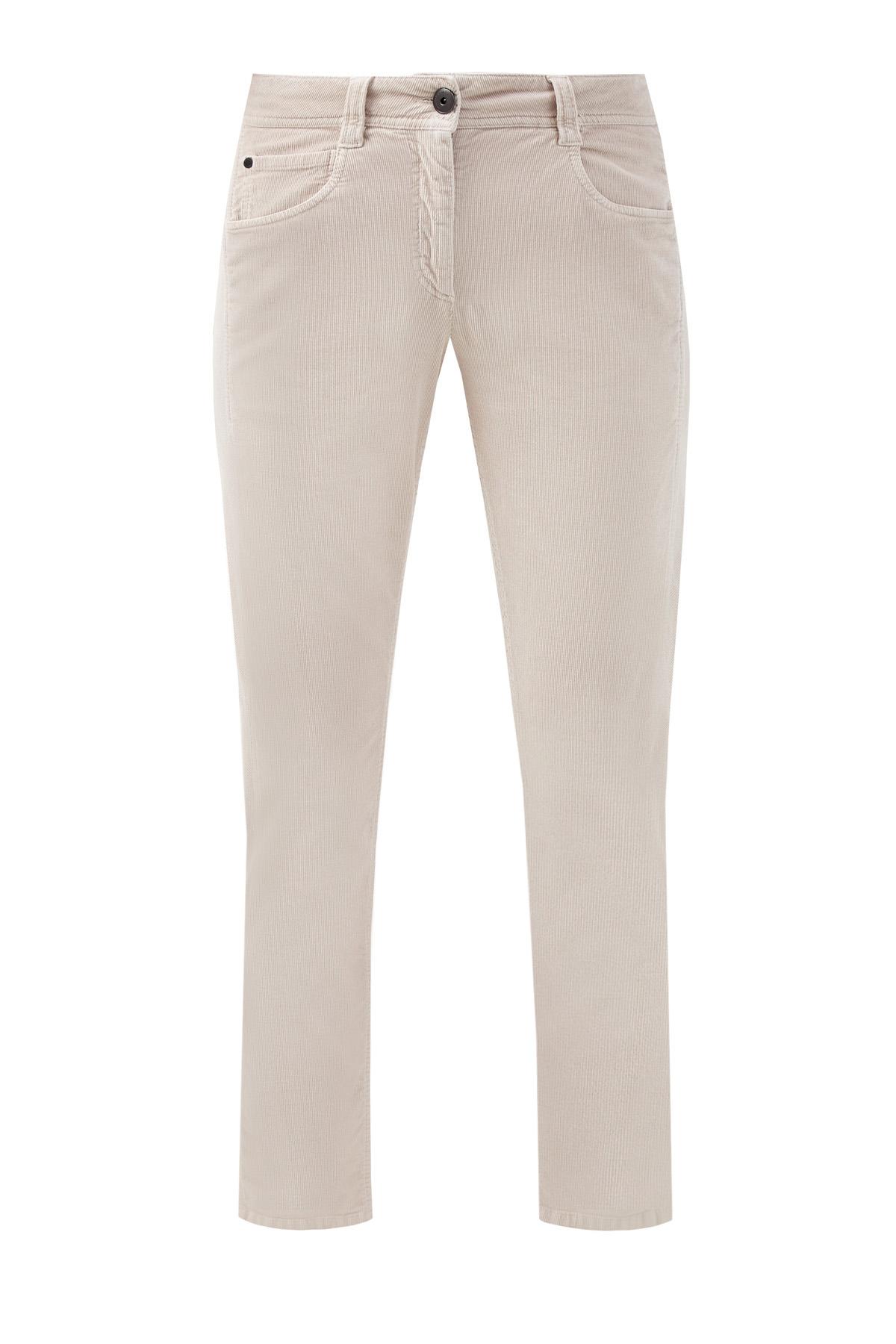 Вельветовые джинсы из хлопка и кашемира
