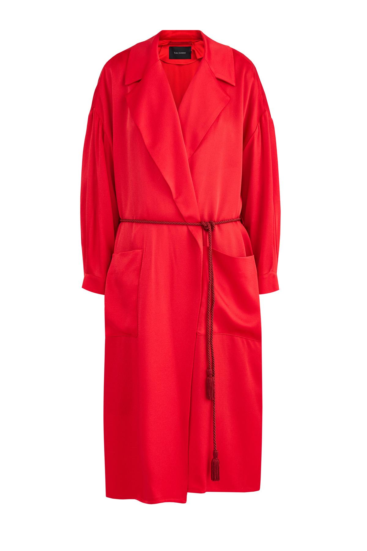 Купить Пальто, TARA JARMON, Франция, ацетат 57%, вискоза 43%