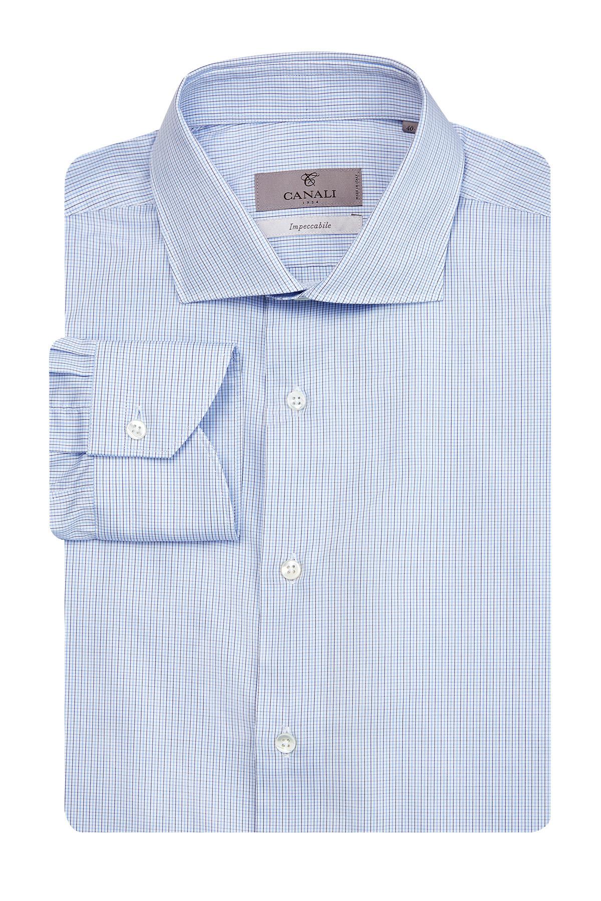 Рубашка из поплина Impeccabile с микро-принтом