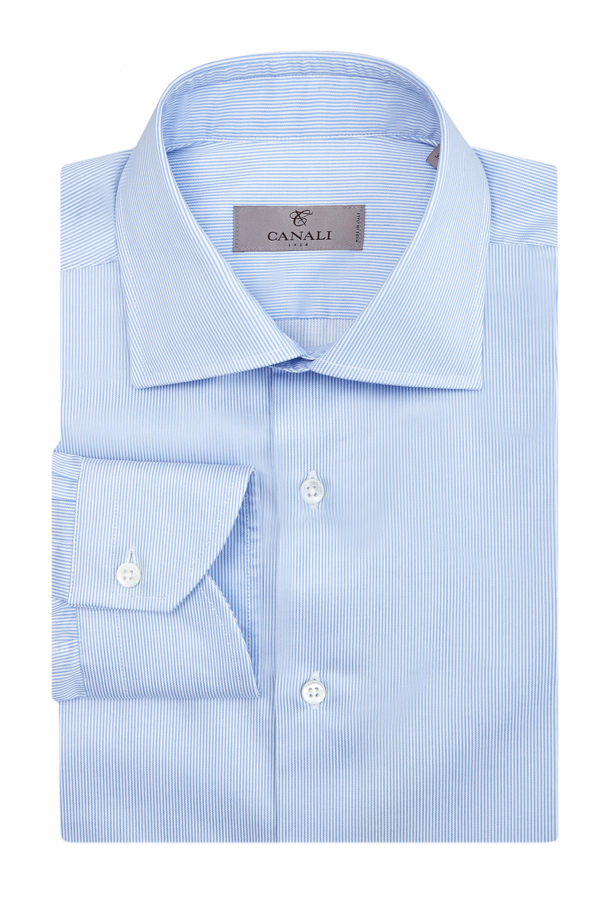 Рубашка кроя Modern Fit из хлопковой саржи в полоску