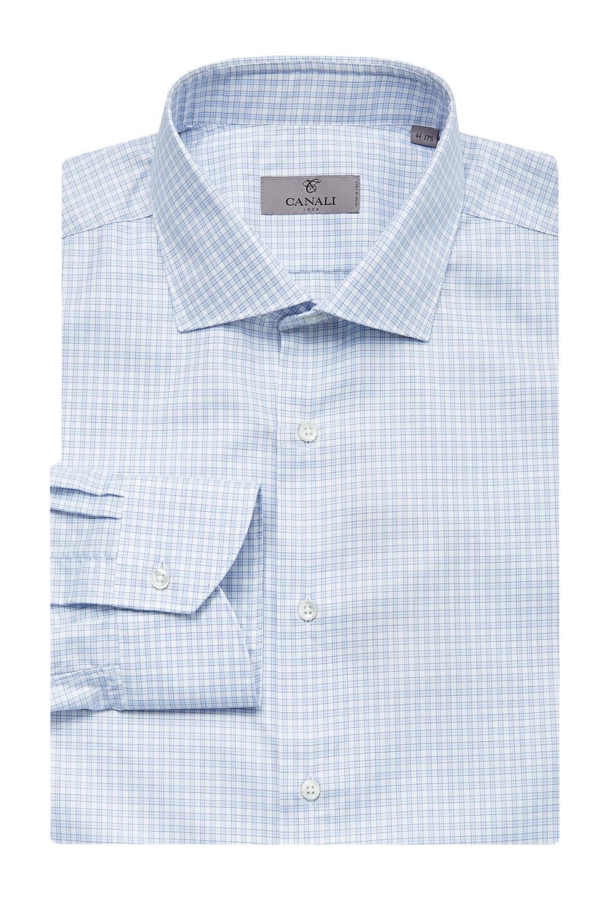 Рубашка из хлопковой саржи с микро-принтом