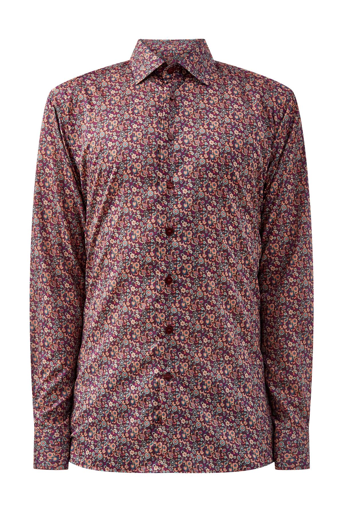 Рубашка с принтом пейсли из хлопка фото