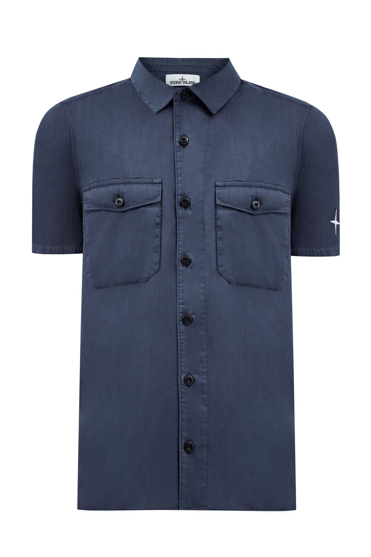 Рубашка скороткими рукавами издвухслойного хлопкового муслина