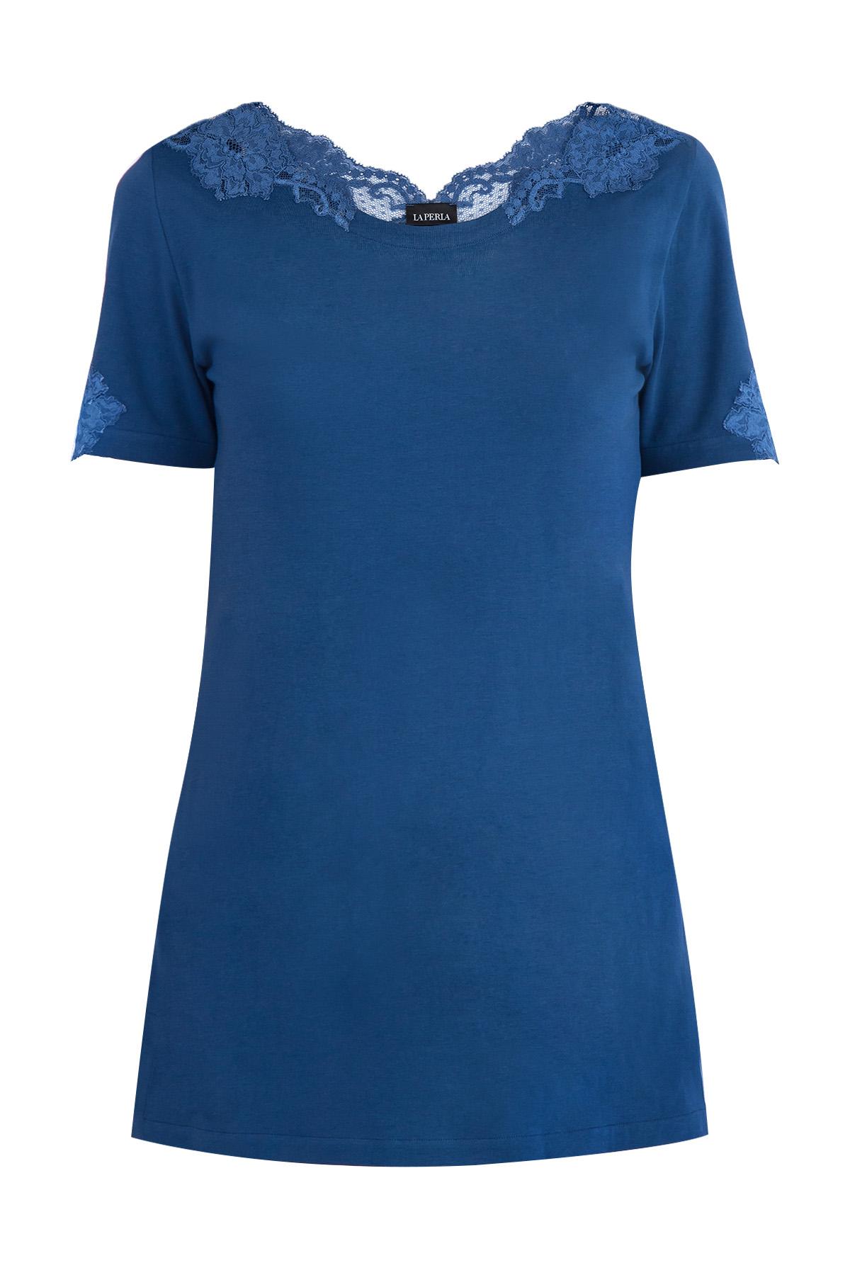 женская футболка с круглым вырезом la perla