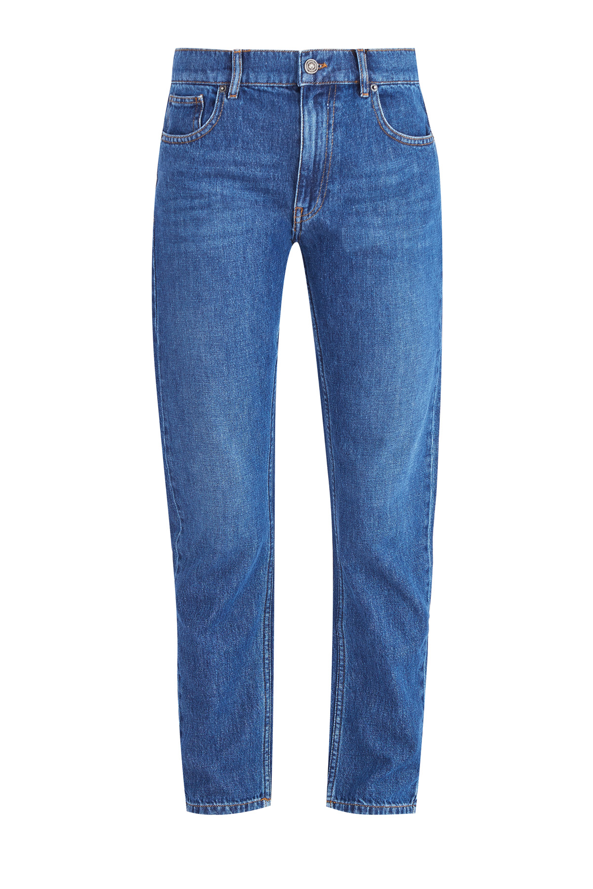 Джинсы кроя straight leg из денима с окрашиванием в винтажном стиле