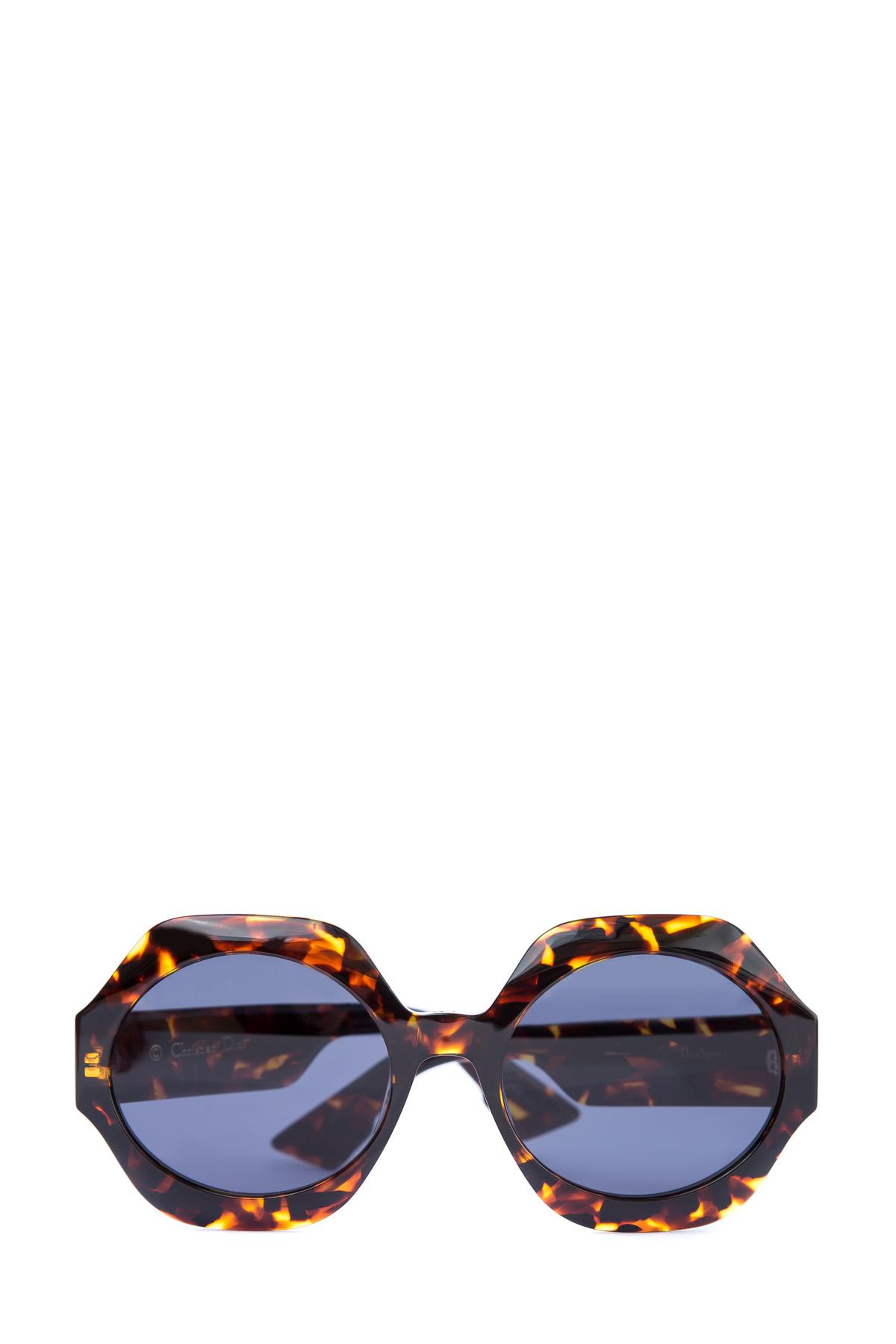 Купить со скидкой Очки «DiorSpirit1» из коллекции Dior в круглой оправе oversized