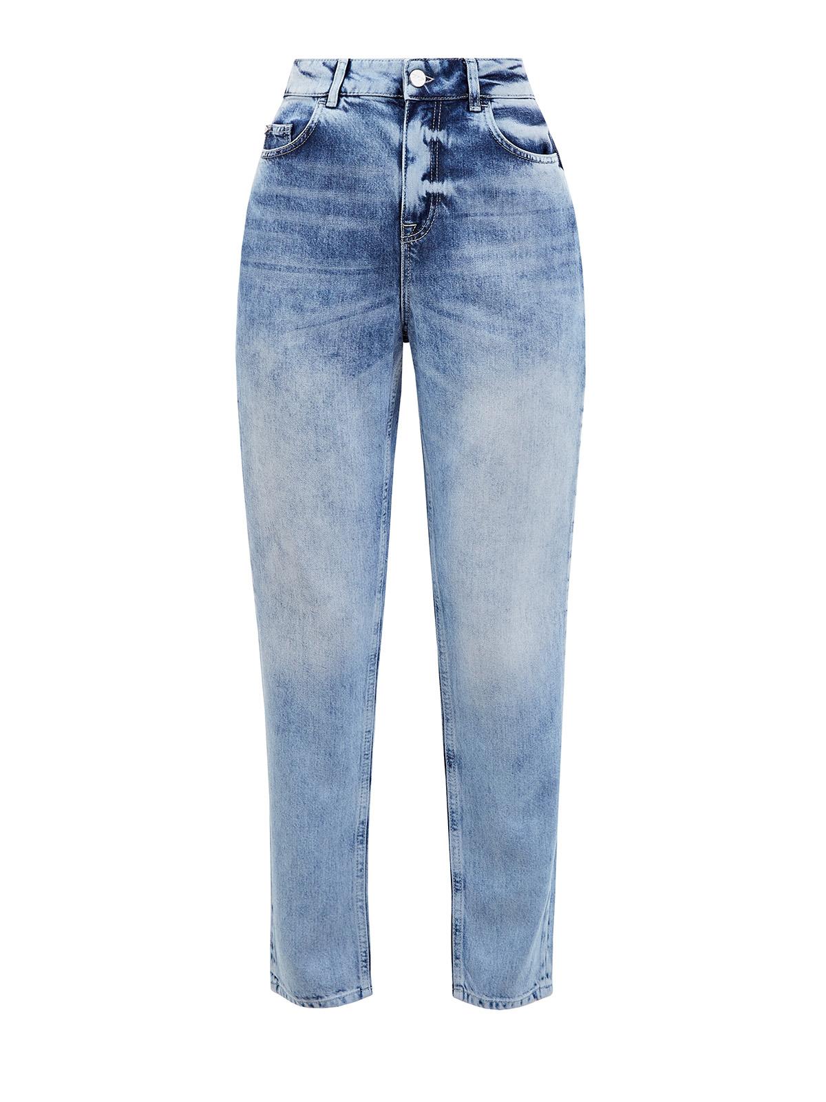 Укороченные джинсы mom's с эффектом кислотной стирки