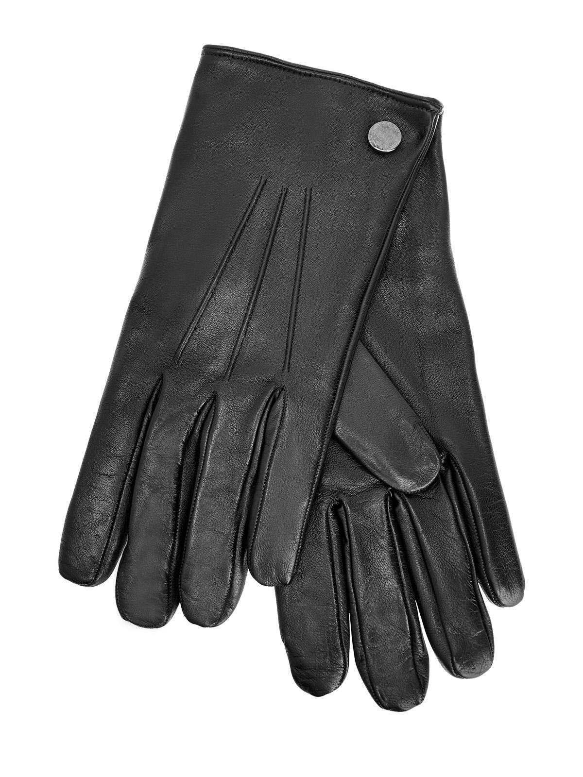 Перчатки из кожи наппа с кашемировой подкладкой
