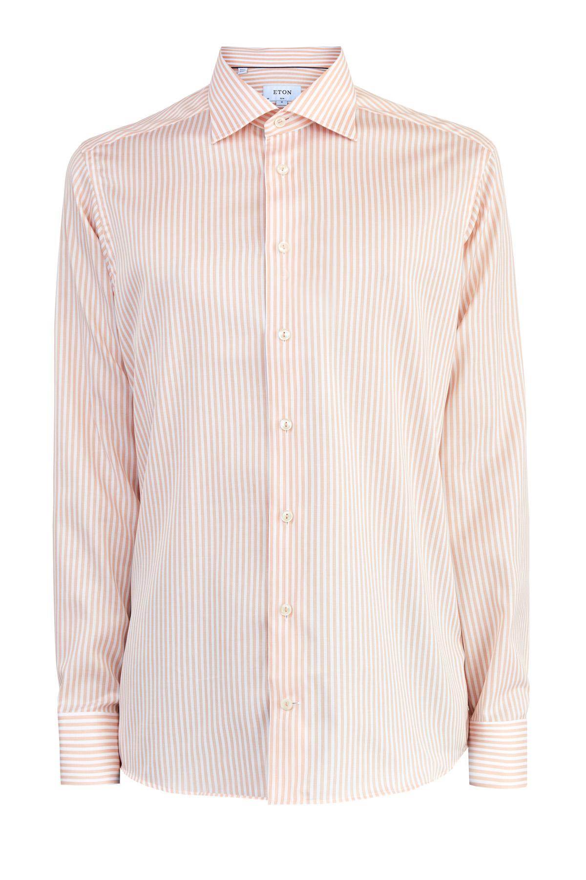 Приталенная рубашка Slim Fit из поплина с принтом в полоску