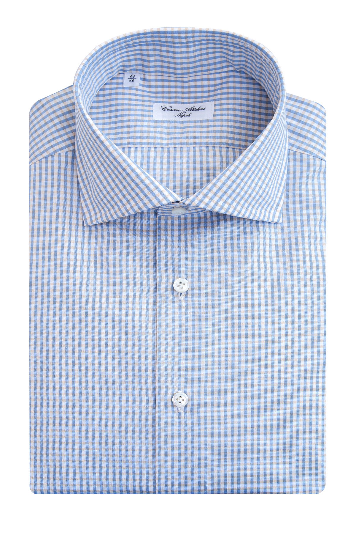 Купить Рубашка, CESARE ATTOLINI, Италия, хлопок 100%