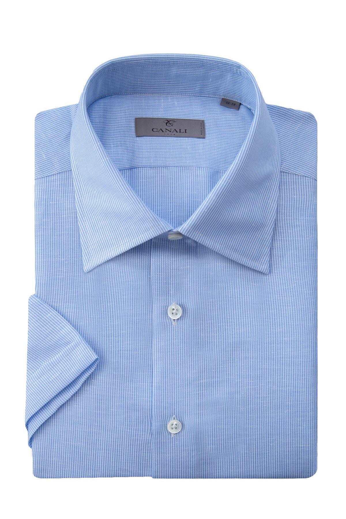 Купить Рубашка, CANALI, Италия, лен 61%, хлопок 39%