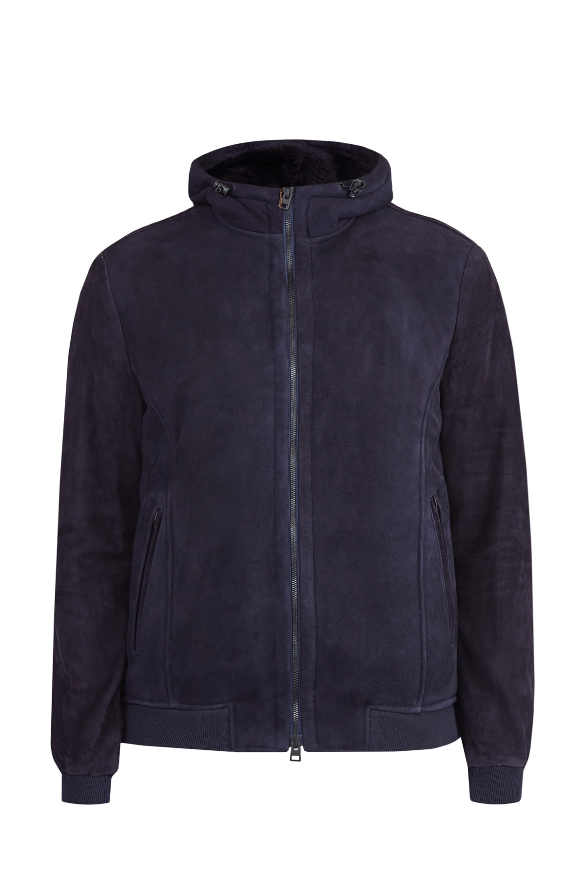Куртка из матовой замши на подкладке из овчины фото