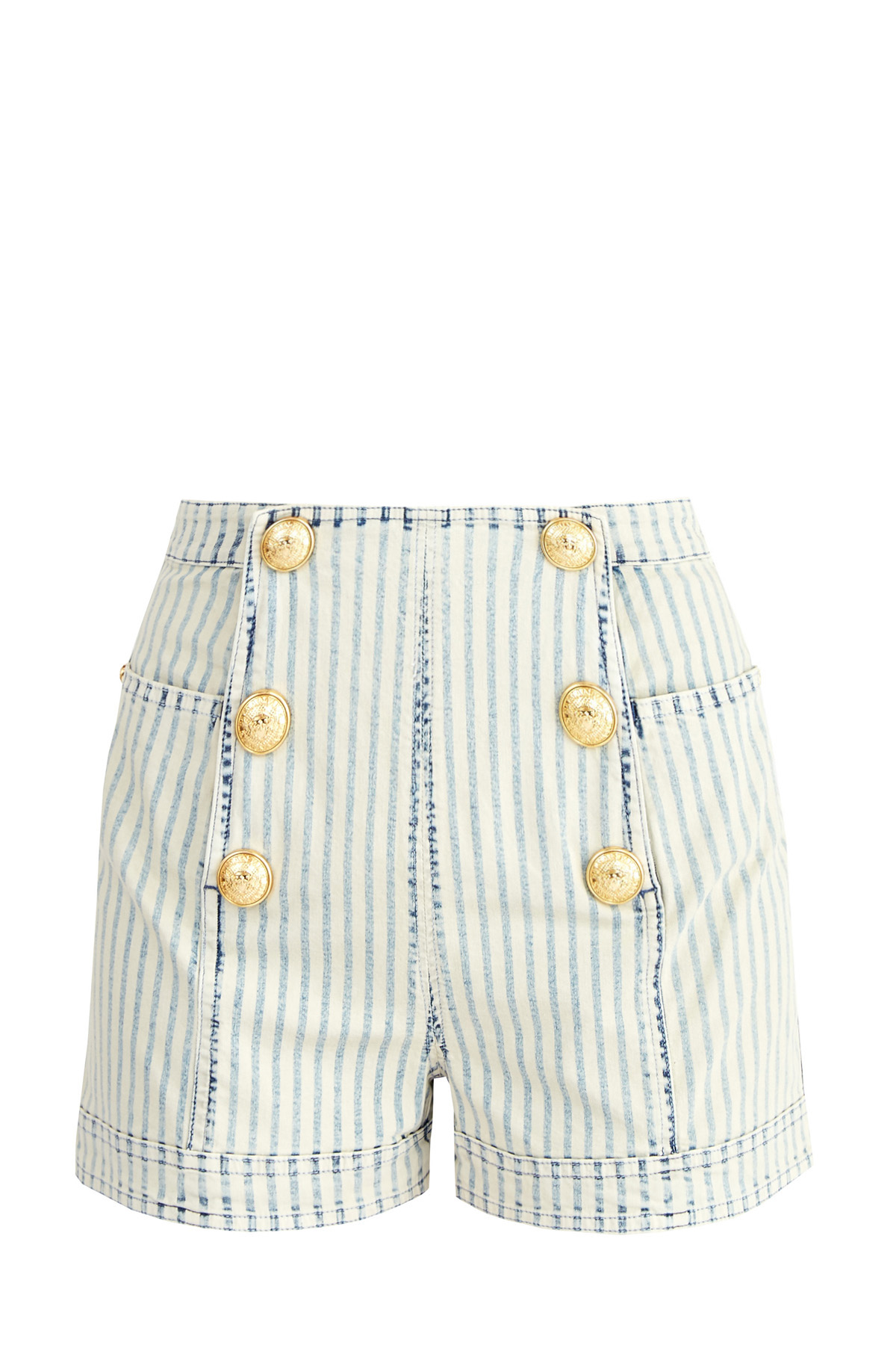 женские джинсовые шорты balmain