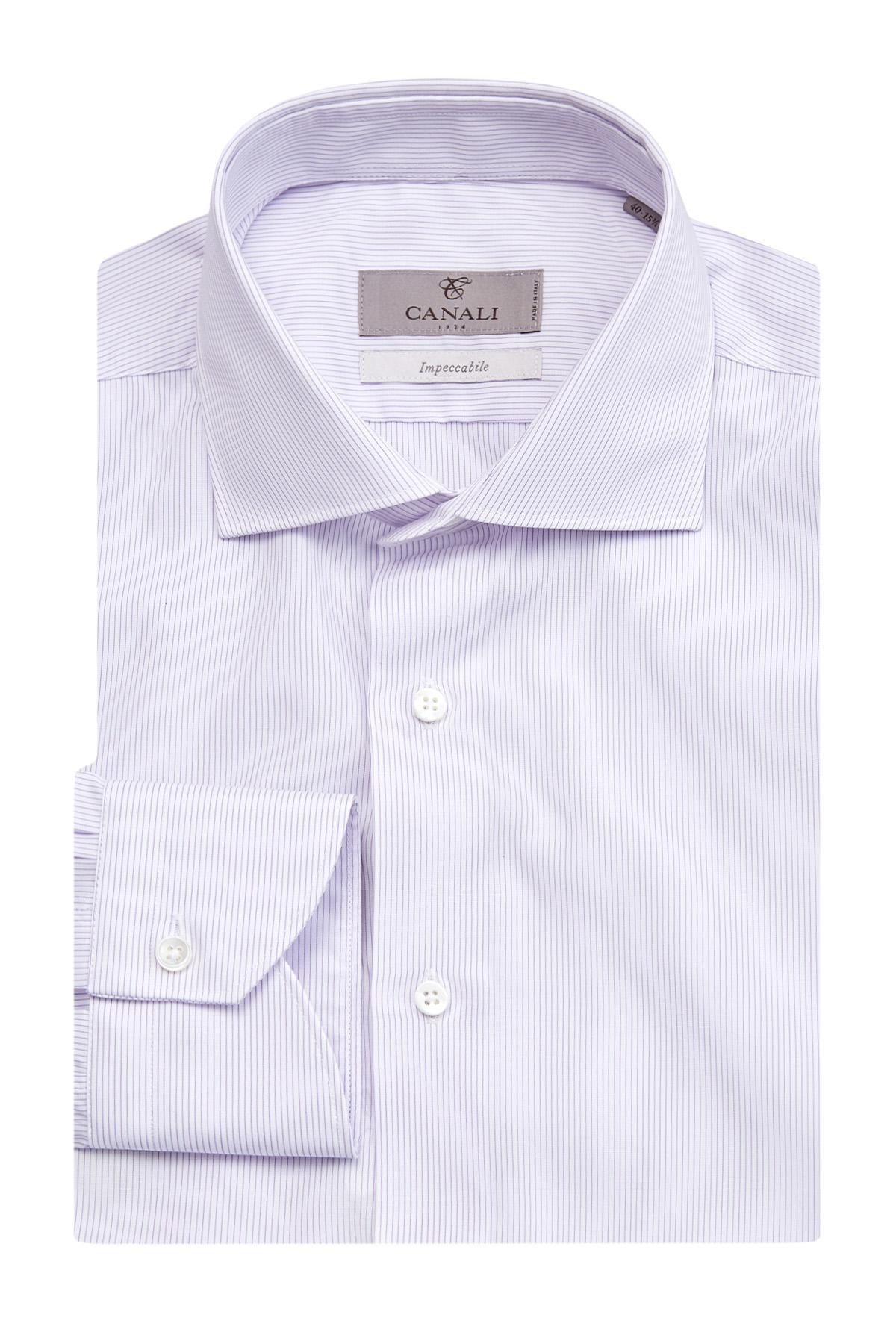 Рубашка из поплина Impeccabile с принтом в полоску