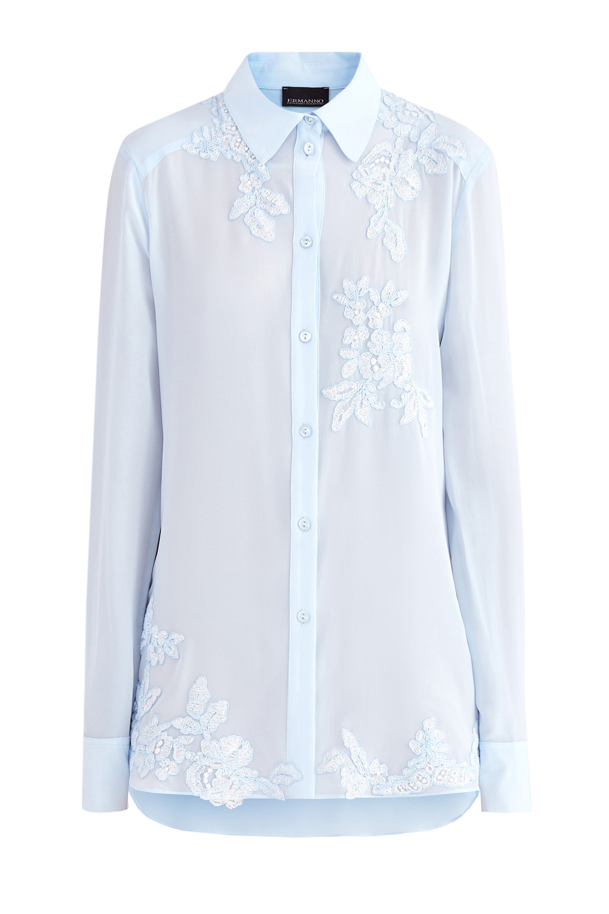 Купить Рубашка, ERMANNO ERMANNO SCERVINO, Италия, шелк 100%