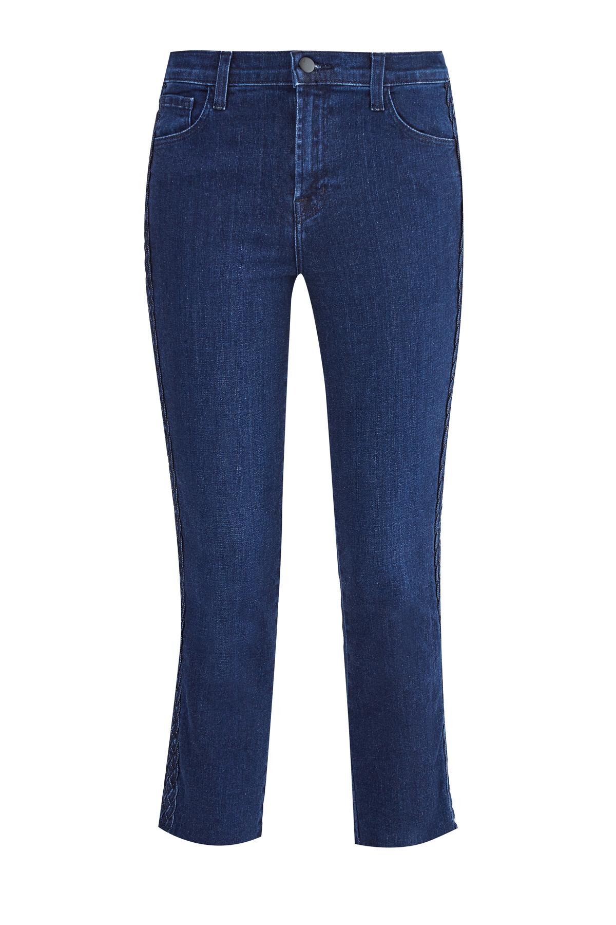 Укороченные джинсы Ruby с отделкой боковых швов плетением «коса»