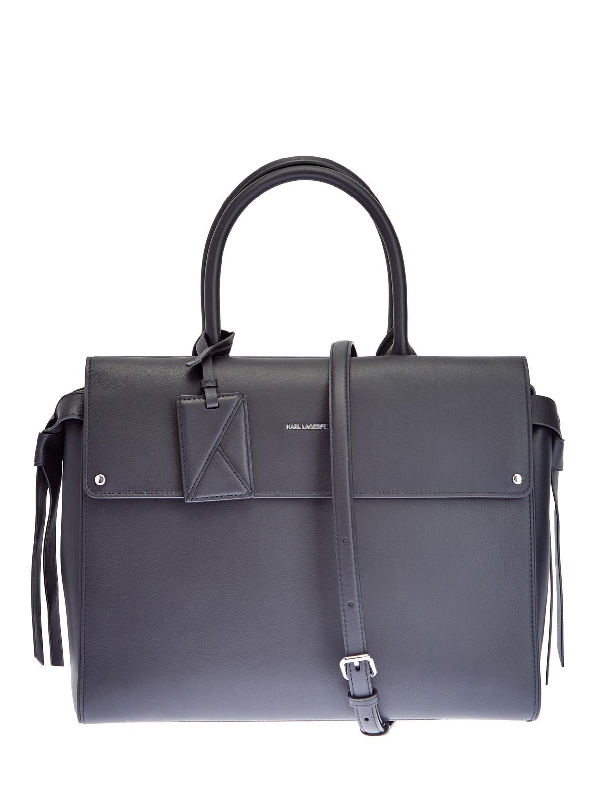 Лаконичная сумка K/Ikon из матовой кожи с логотипом