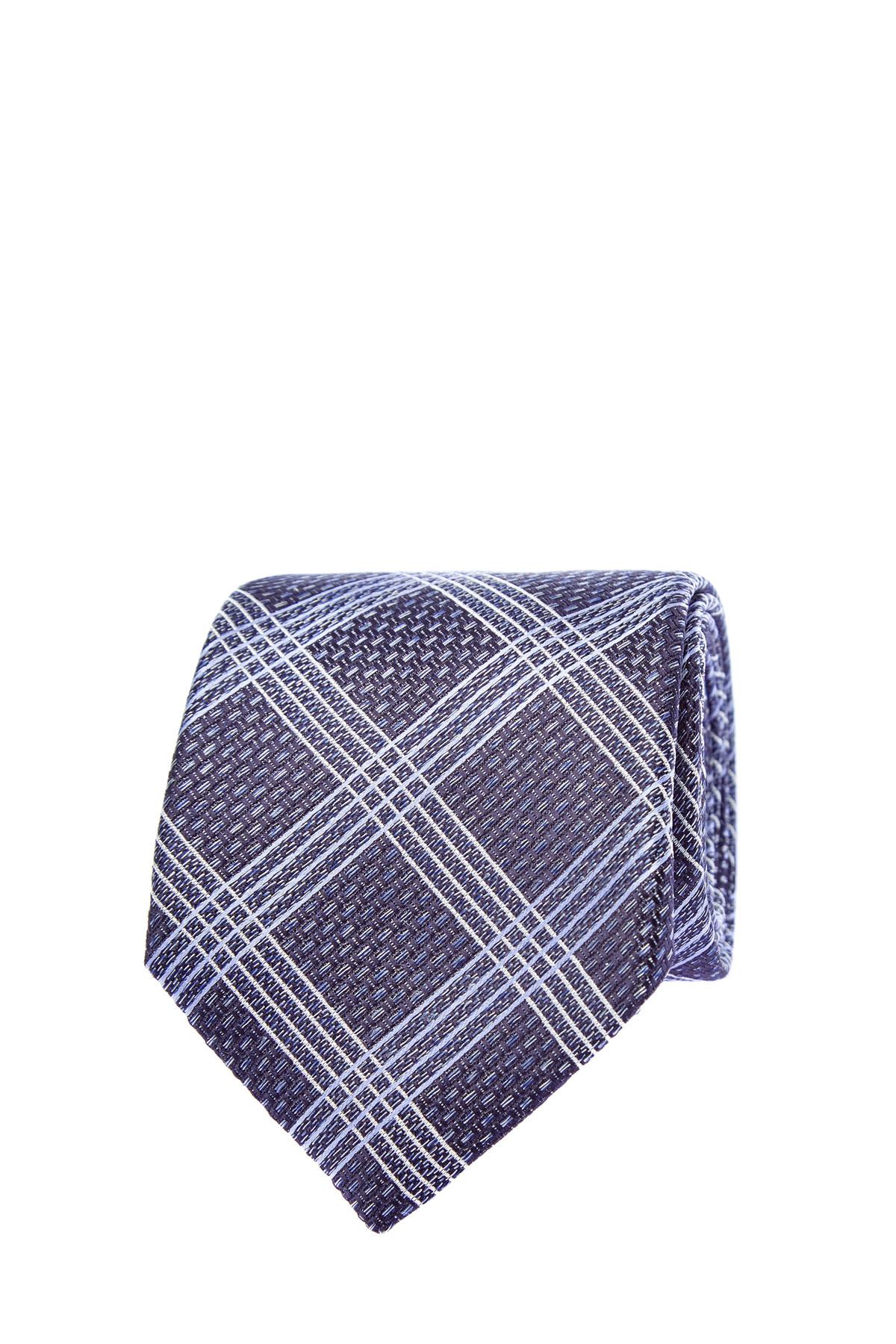 Шелковый галстук с ромбическим принтом