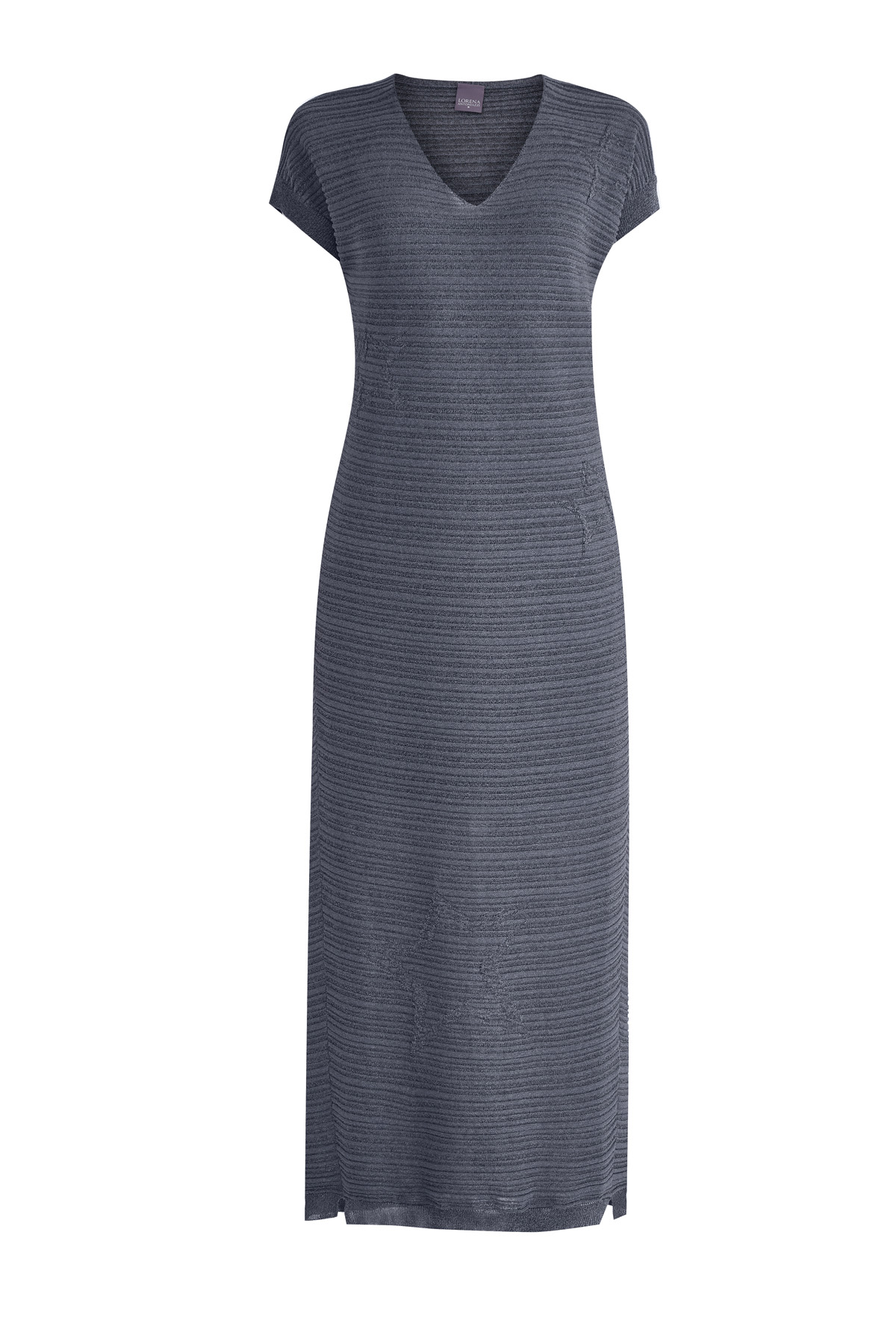 Купить Платье, LORENA ANTONIAZZI, Италия, вискоза 52%, полиэстер 48%, хлопок 90%, полиэстер 10%