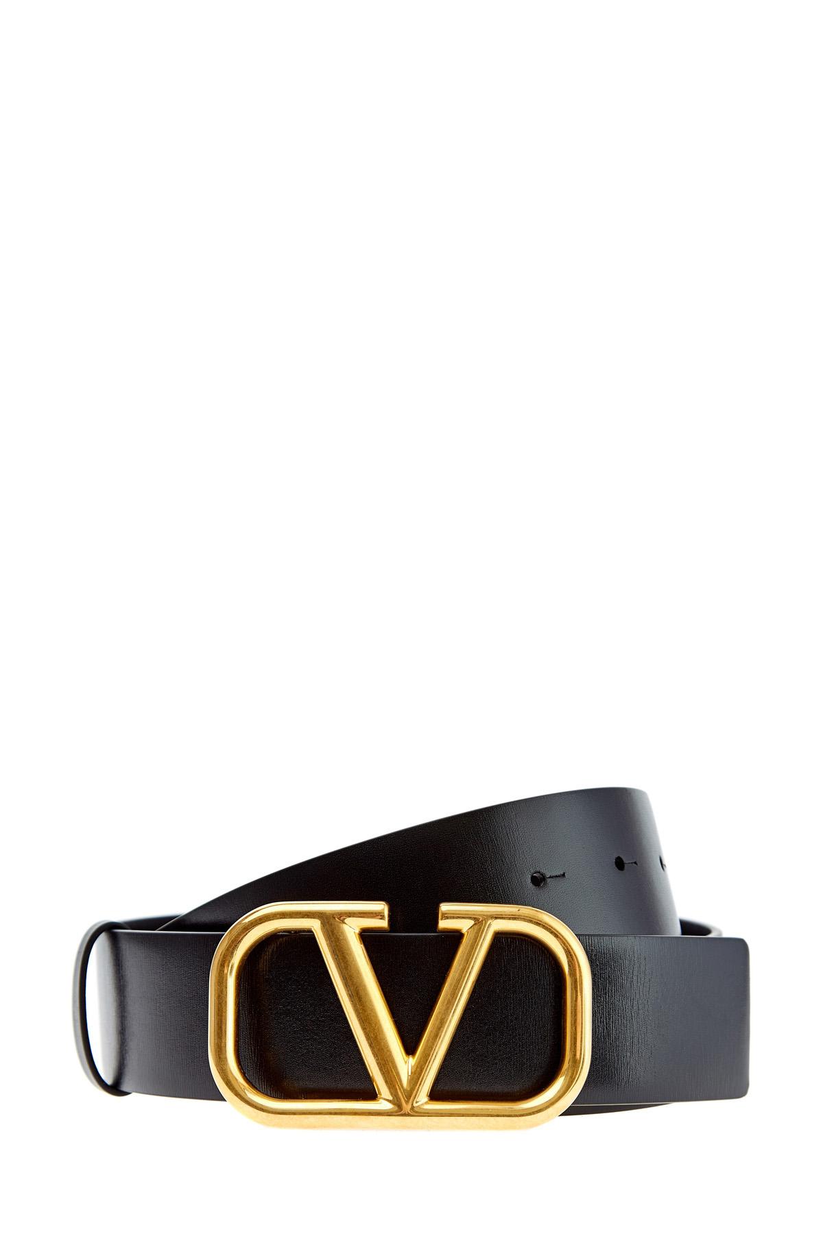 Купить со скидкой Ремень с литым логотипом VLOGO из матовой кожи