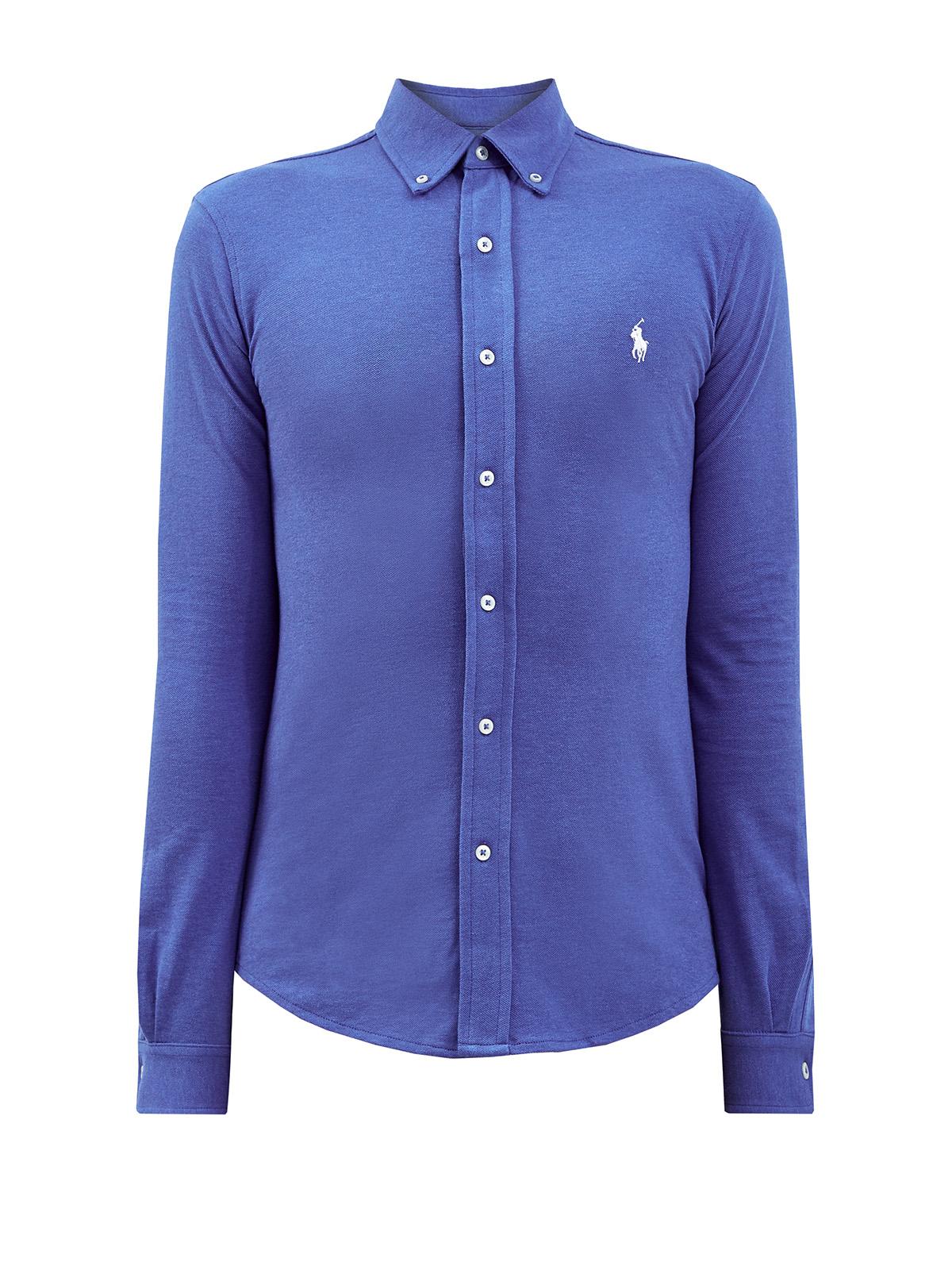 Хлопковая рубашка с воротником button-down