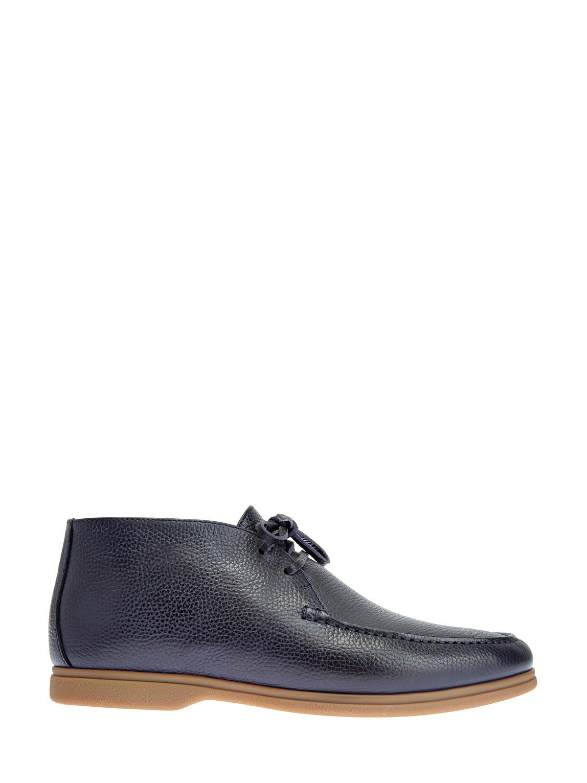 Утепленные ботинки из крупнозернистой телячьей кожи