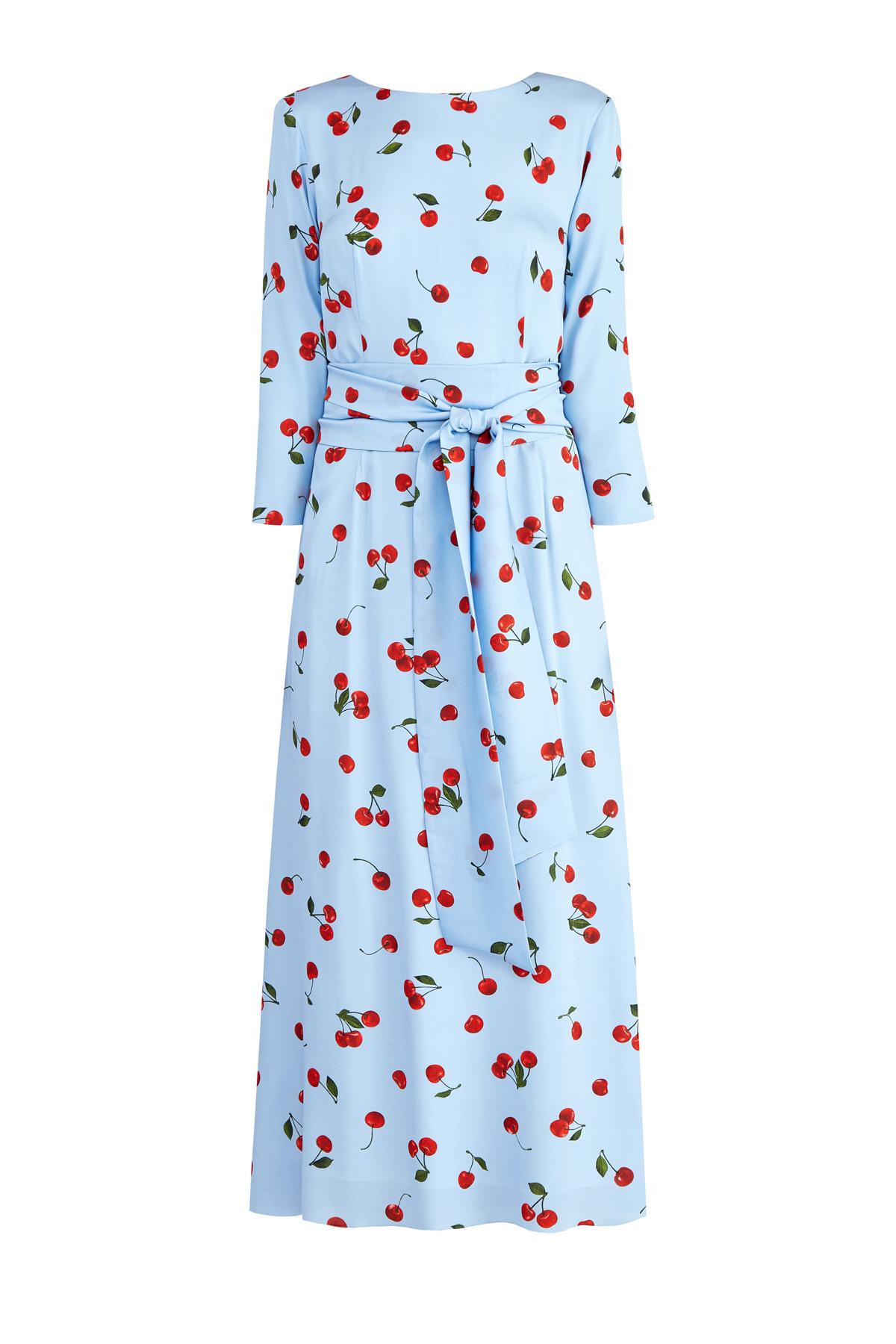 Купить Платье из чистого шелка с декольтированной спинкой и поясом-лентой, ALEXANDER TEREKHOV, Россия, шелк 95%, эластан 5%