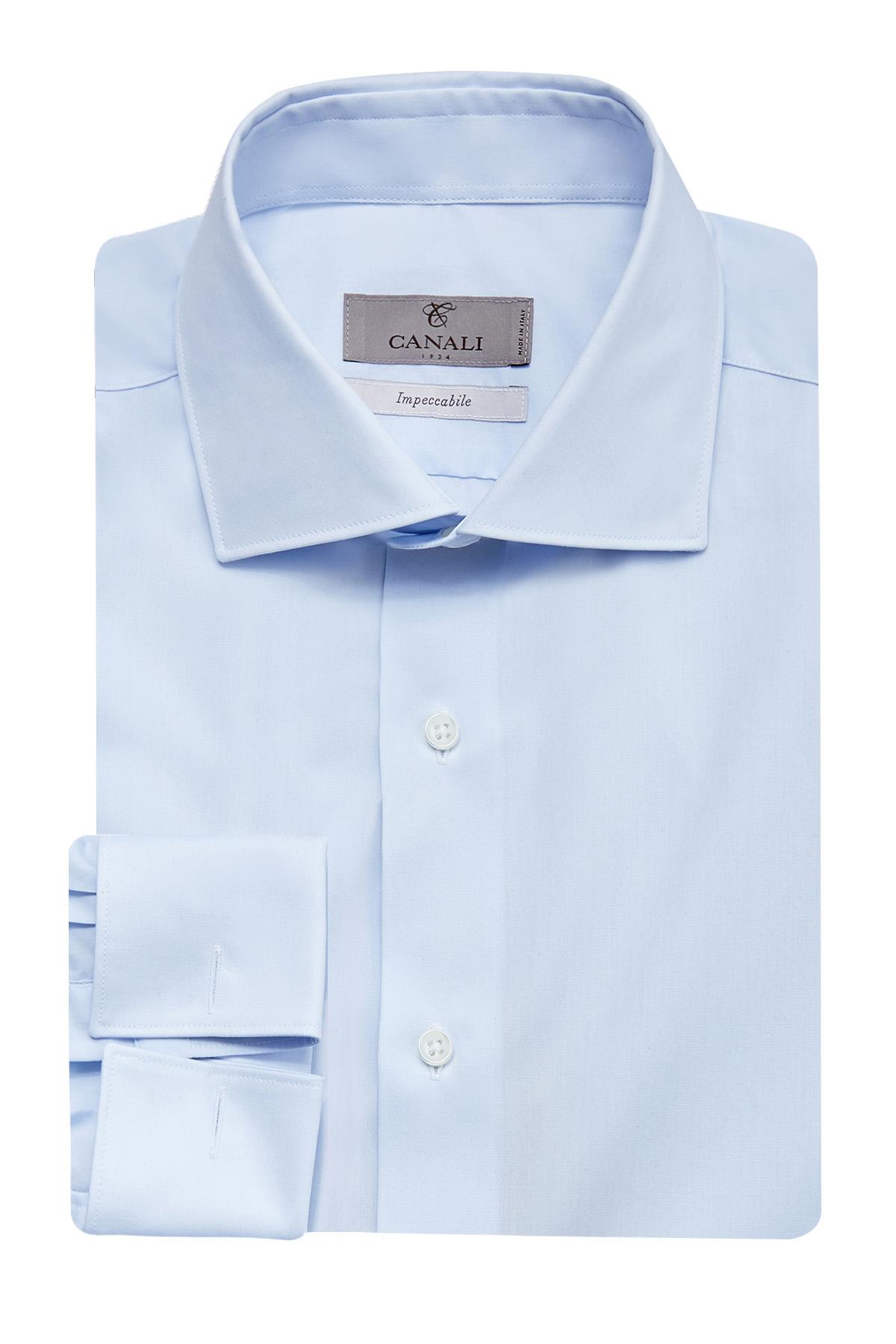 Рубашка из хлопка Impeccabile с манжетами под запонки