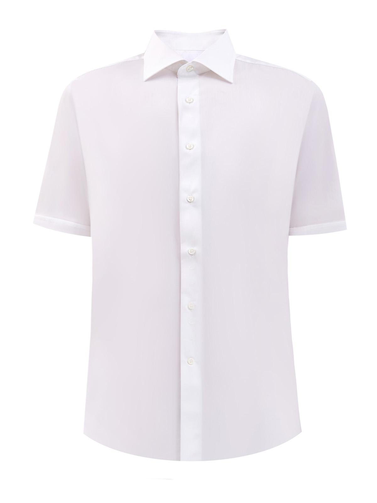 Хлопковая рубашка из ткани Impeccabile с короткими рукавами