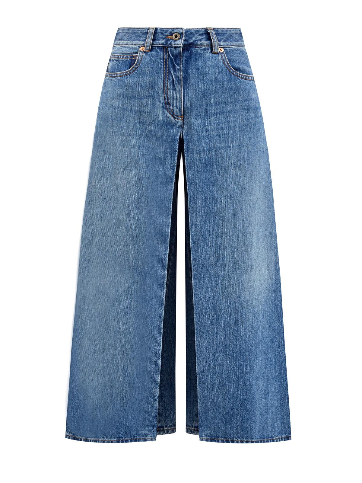 женские джинсы с высокой посадкой valentino