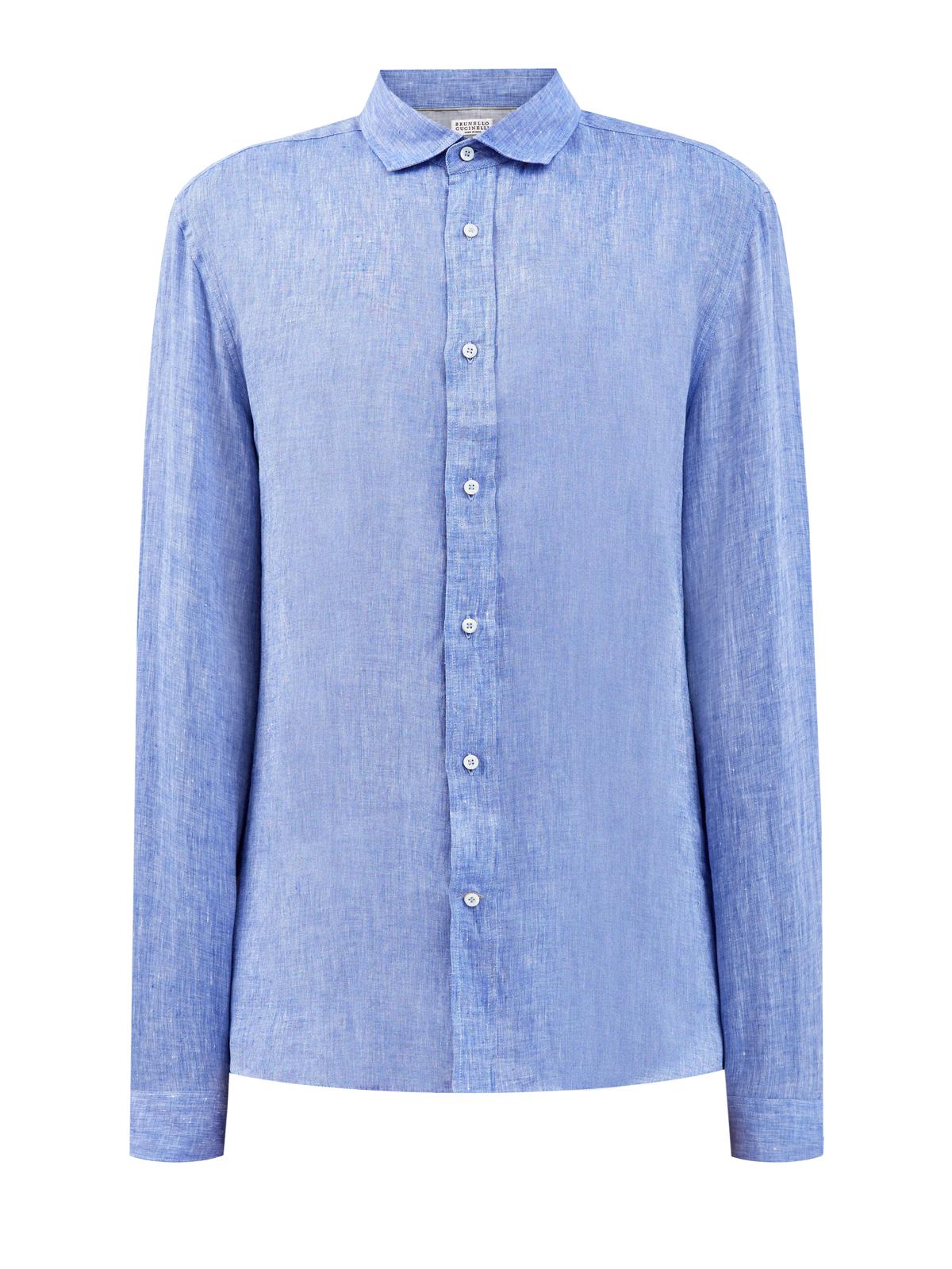 Рубашка ручной работы из дышащей льняной ткани