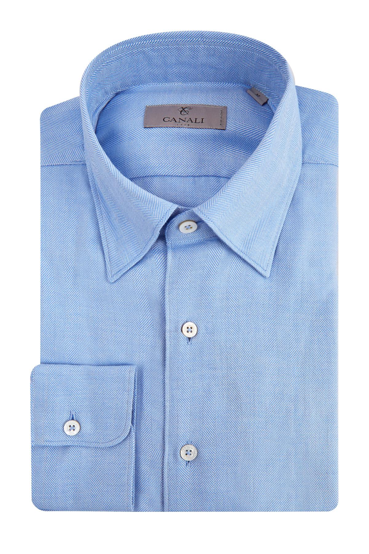 Купить Рубашка, CANALI, Италия, хлопок 85%, кашемир 15%