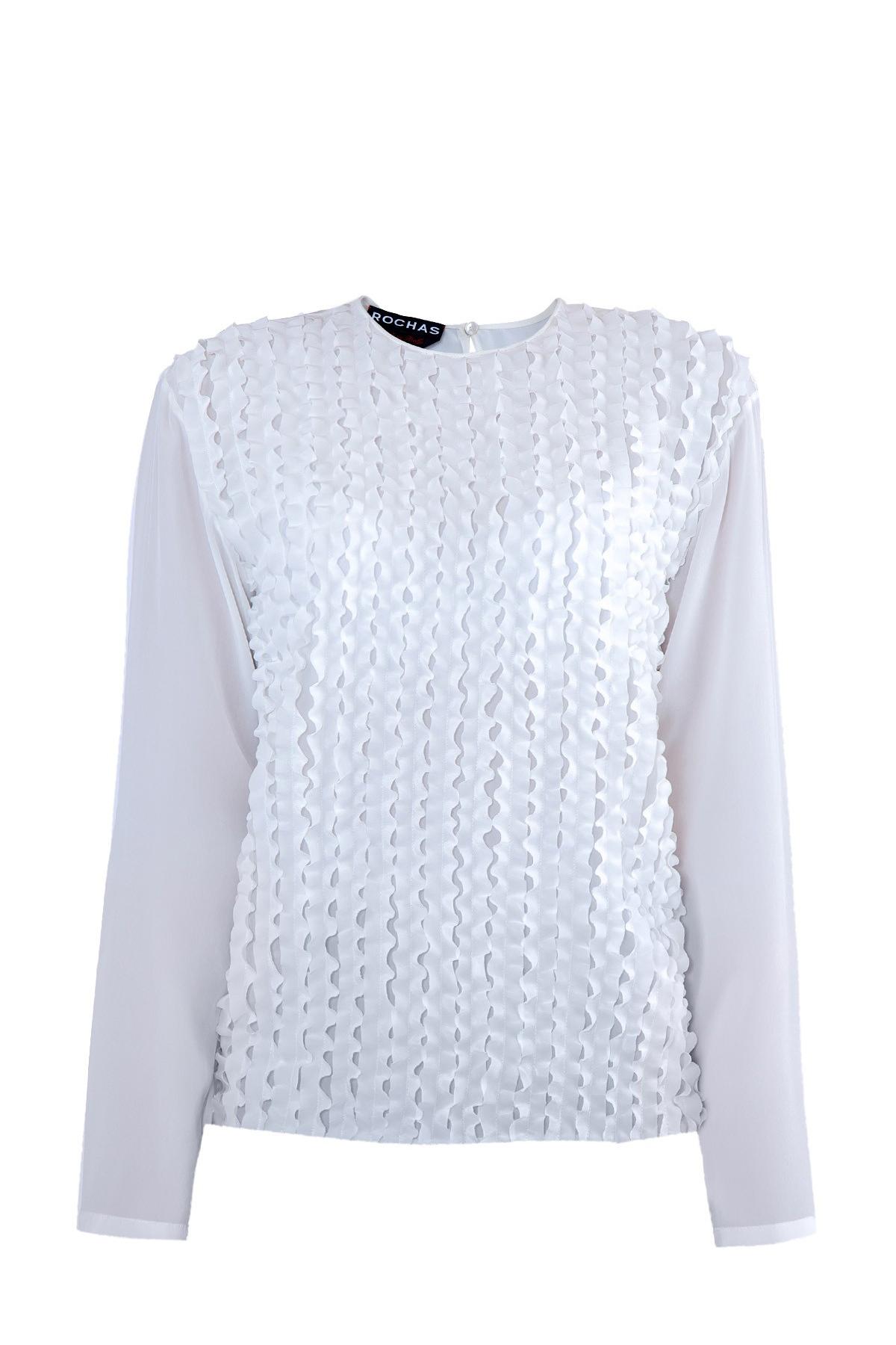 женская блузка с круглым вырезом rochas